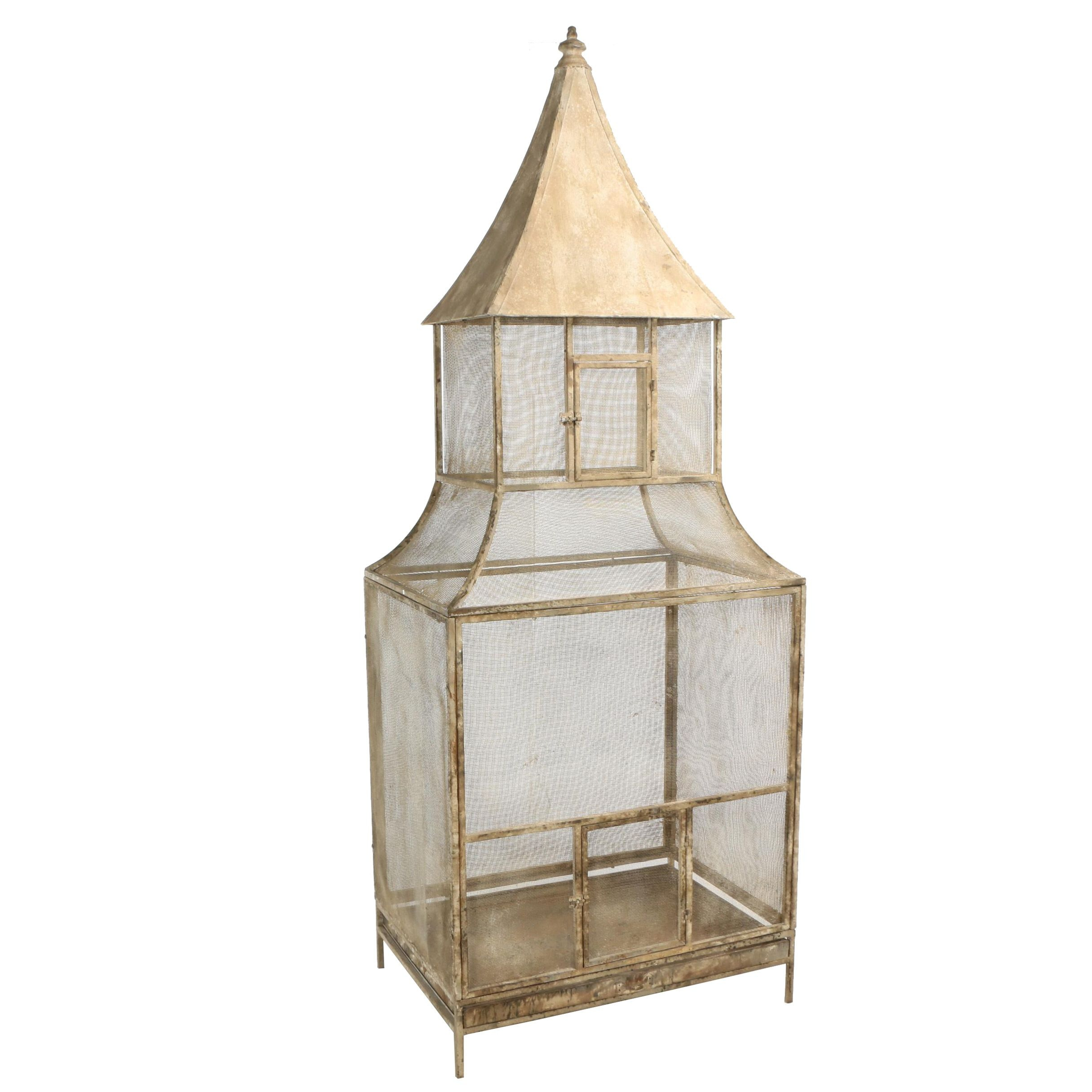 "French Provincial Style ""Estate"" Decorative Metal Aviary"