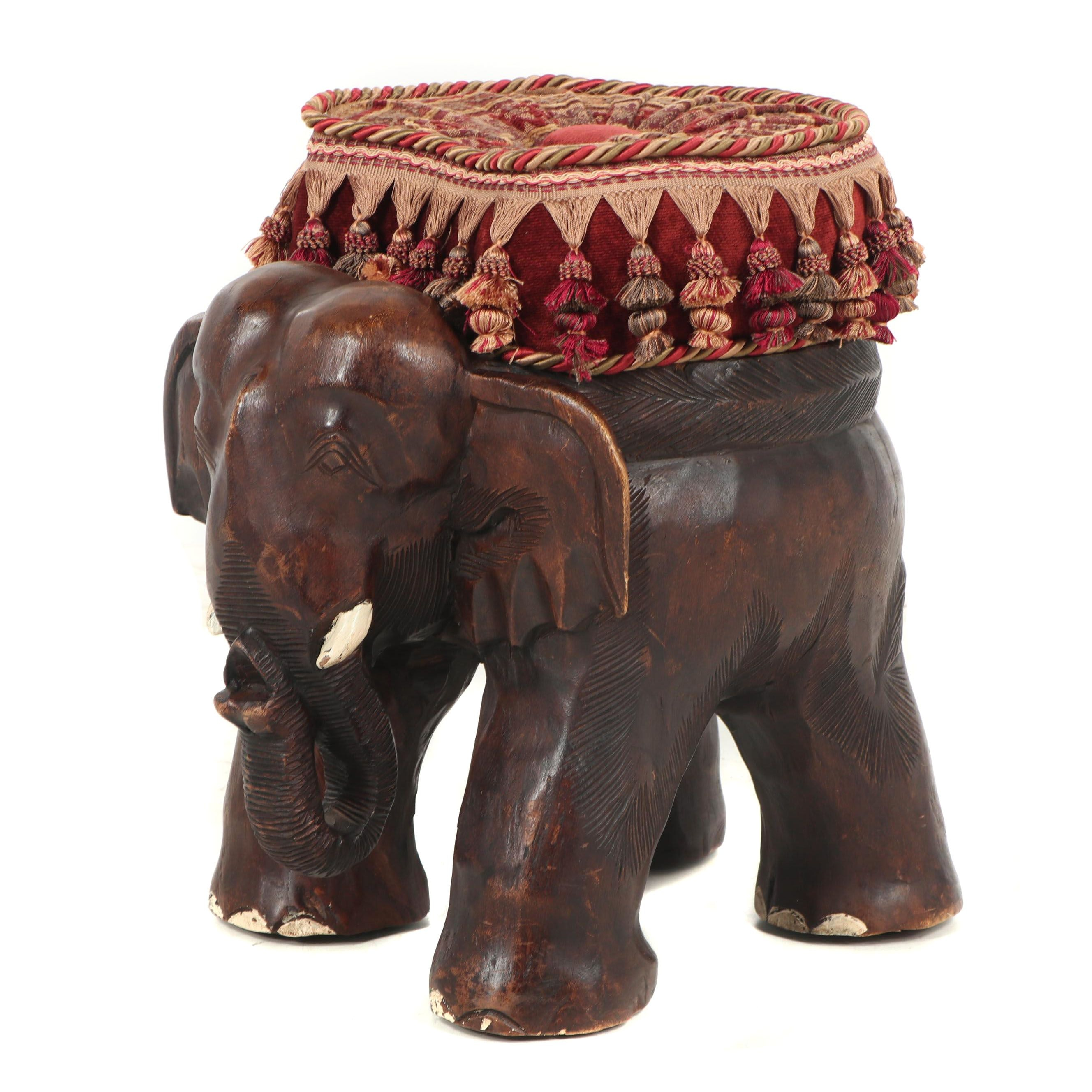 Elephant Footstool