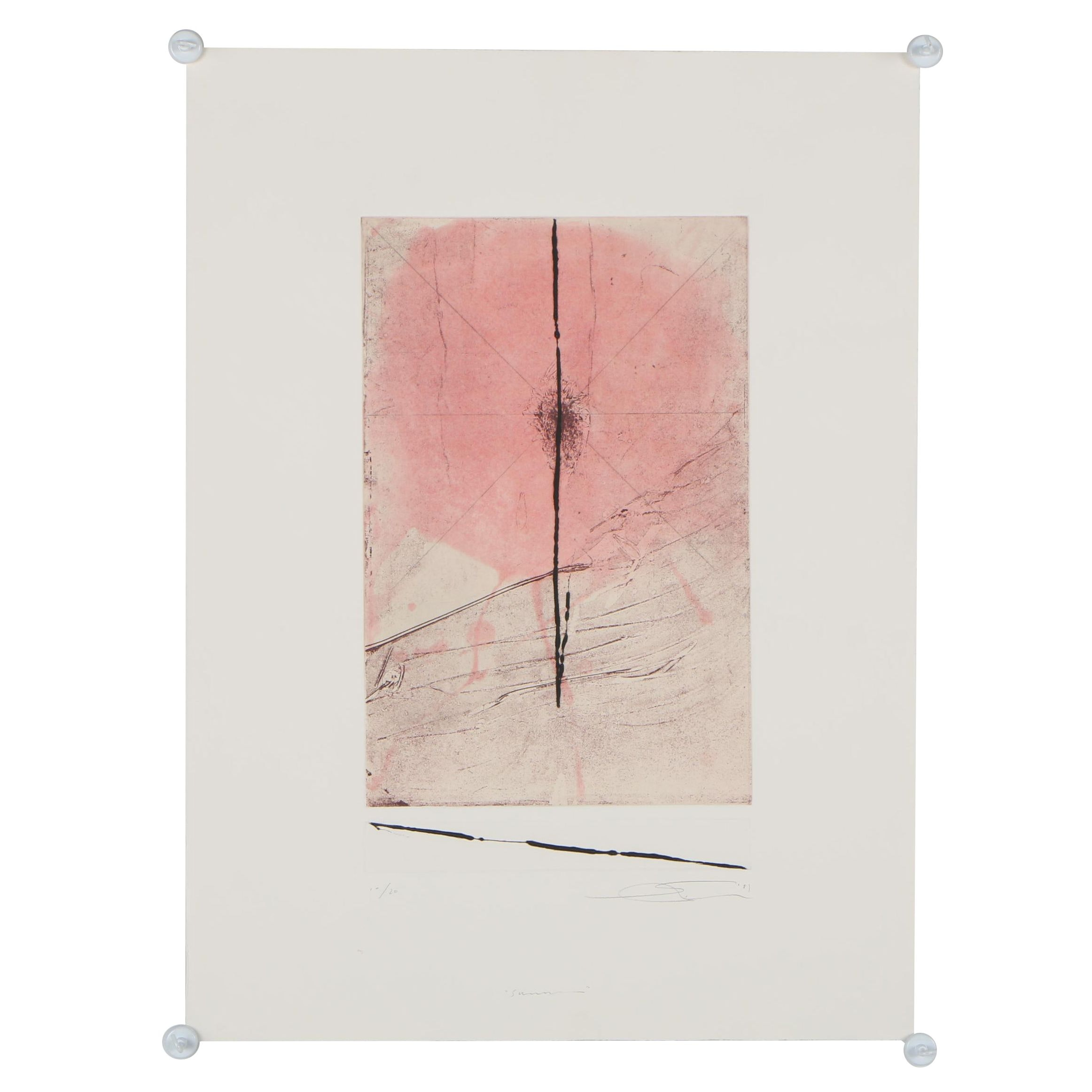 """Shōichi Ida Limited Edition Etching """"Summer"""" from Suite """"Four Seasons"""""""