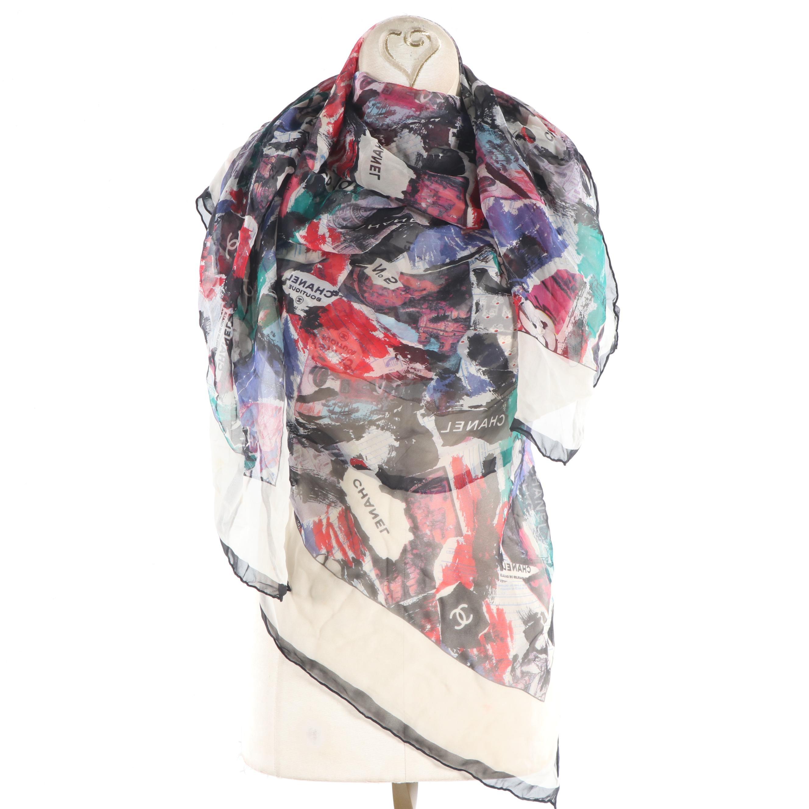 Chanel Silk Scarf, Vintage