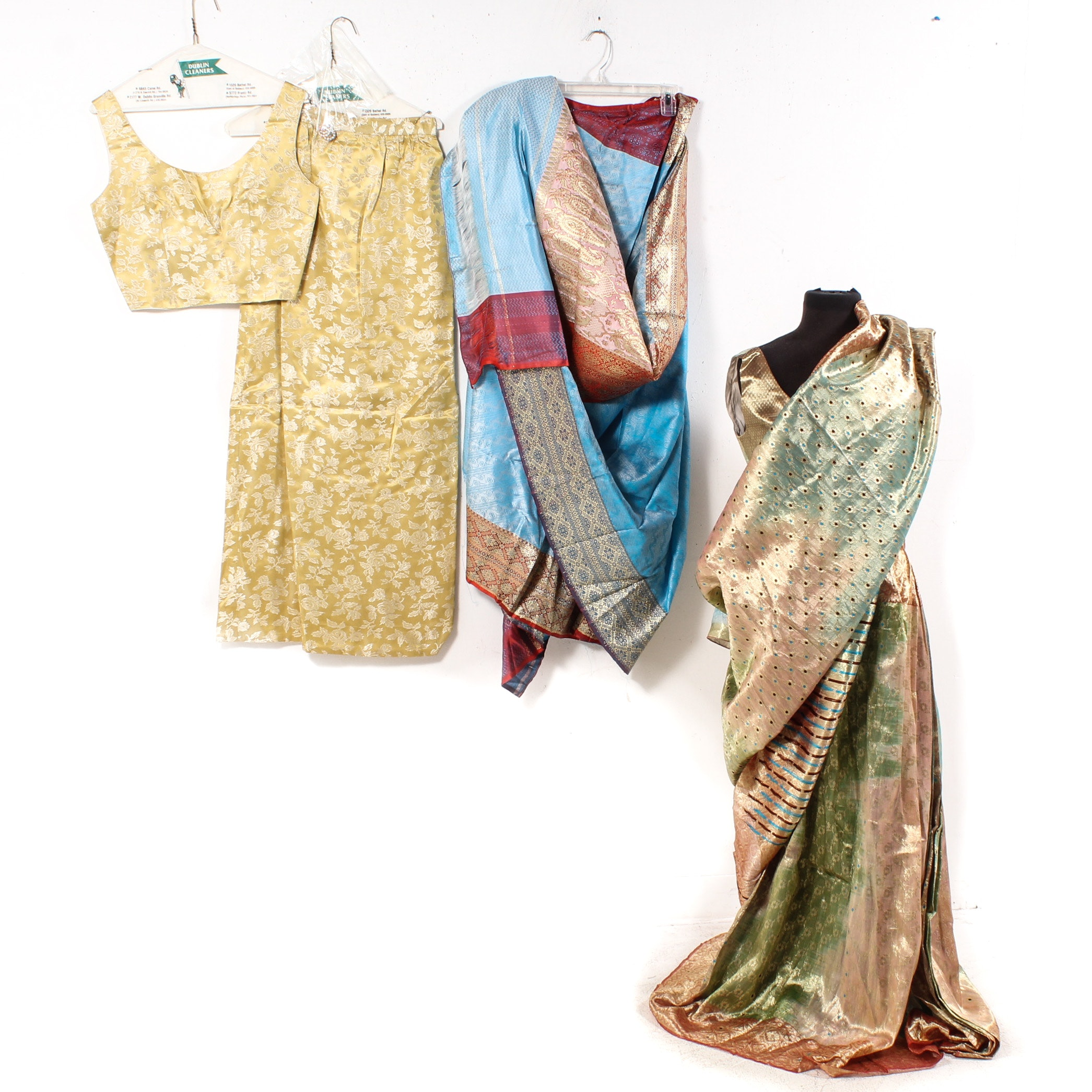 Women's Traditional Indian Silk Clothing with Cholis, Skirts, and Saris