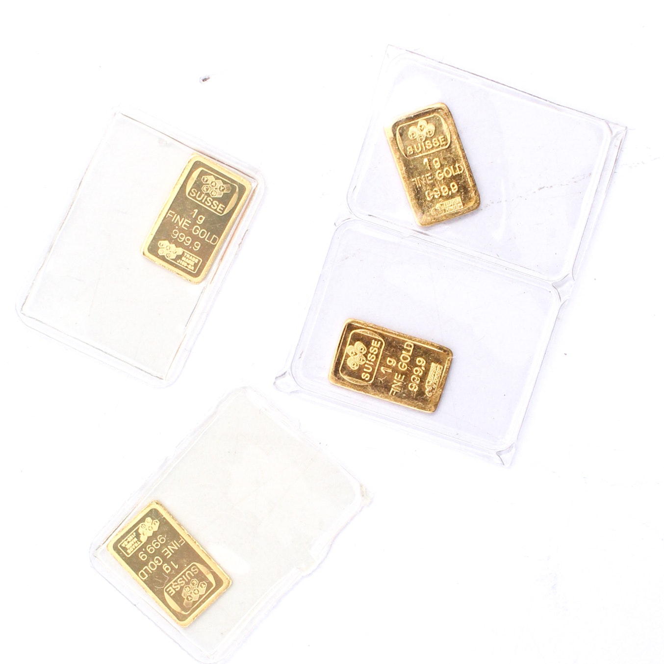 PAMP Suisse .999 One Gram Fine Gold Ingots