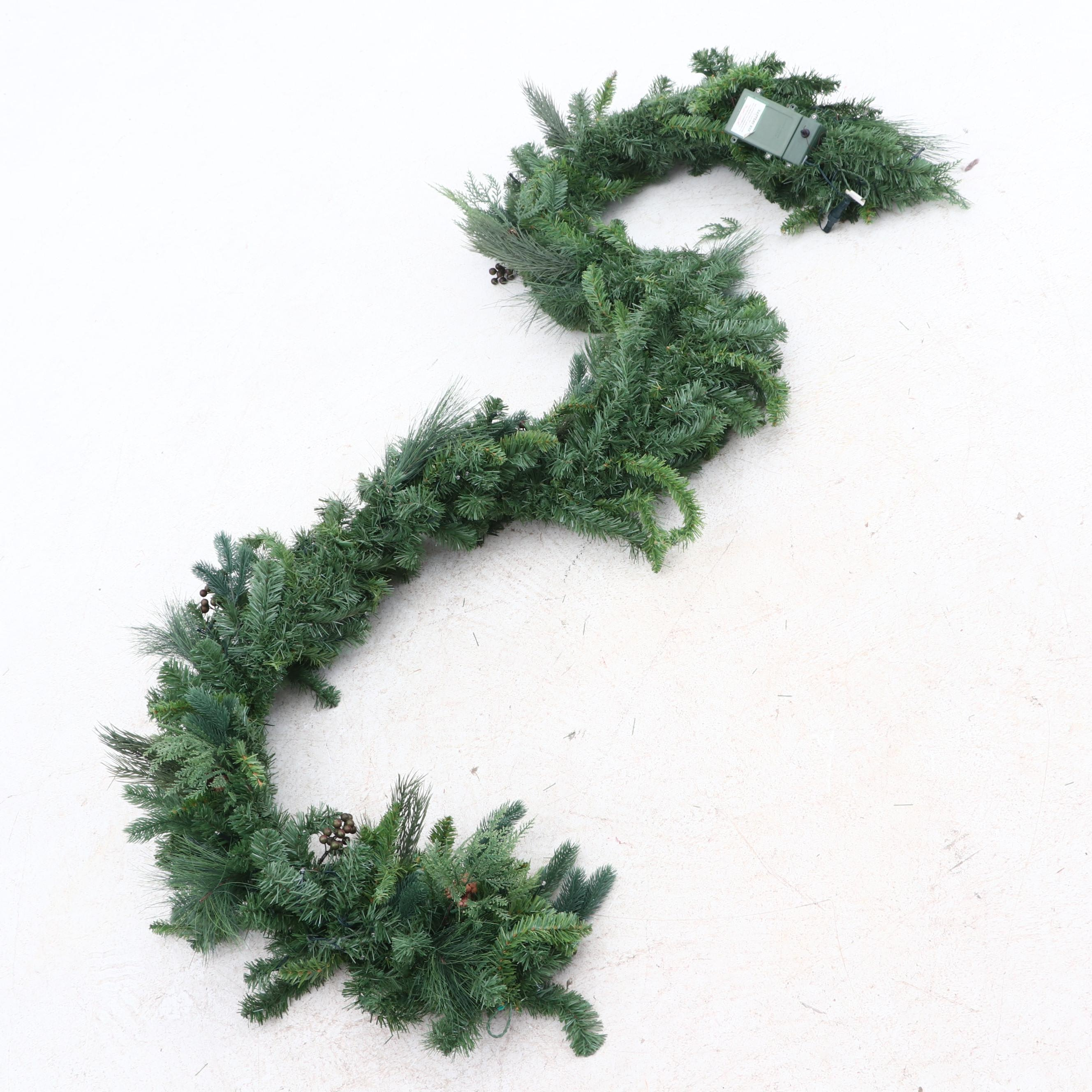 Frontgate Holiday Majestic Cordless Garland