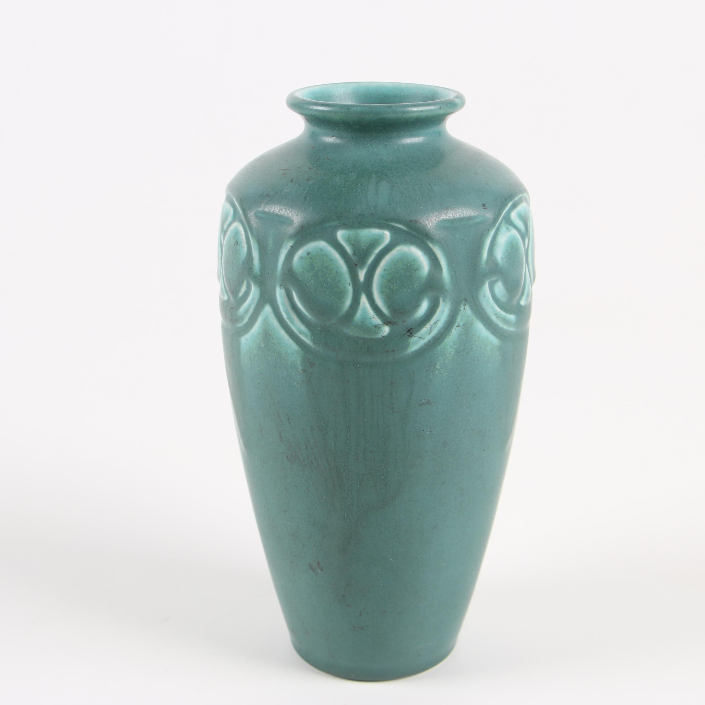 Rookwood Pottery Matte Green Glaze Vase, 1926