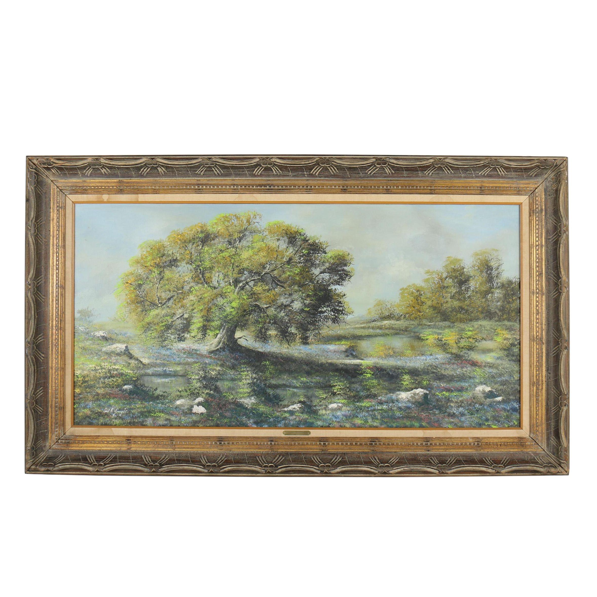 "Cecil R. Young Jr. Oil Painting ""Los Grande"""