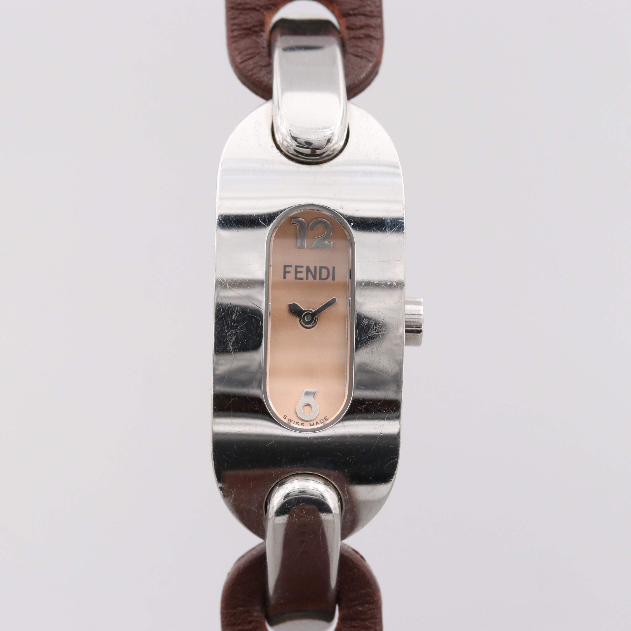 Fendi Stainless Steel Quartz Wristwatch