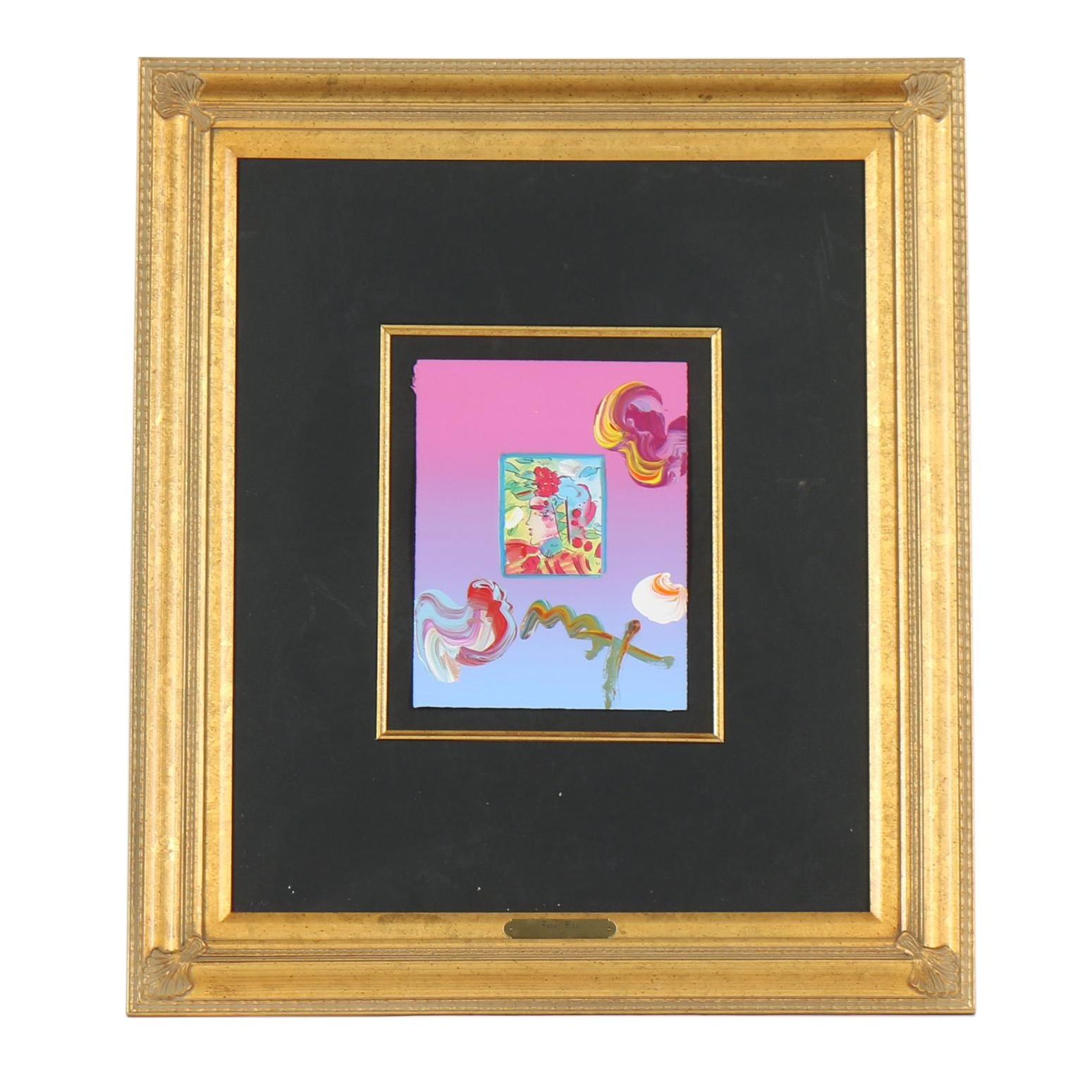 """Peter Max Embellished Offset Lithograph """"Profile II"""""""