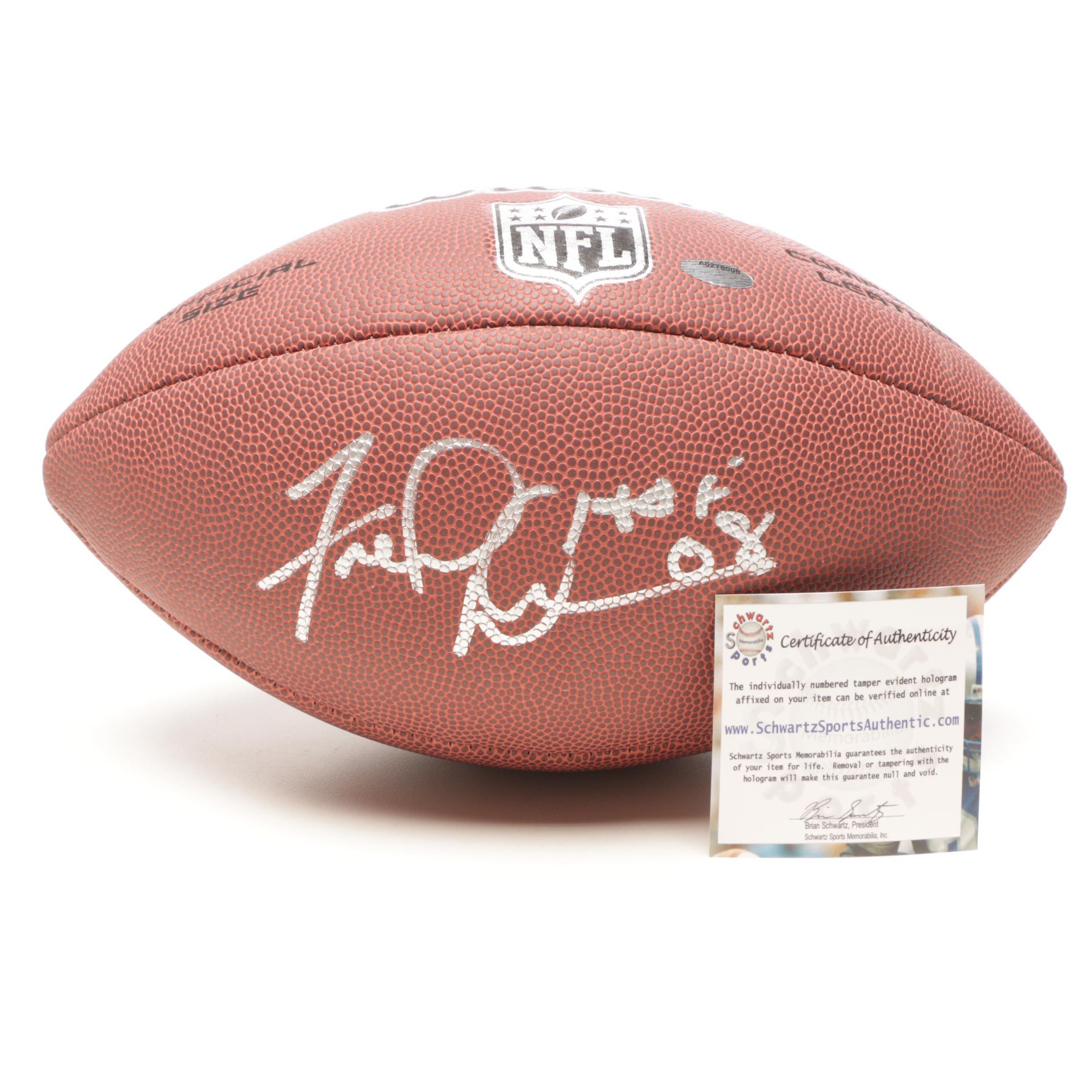 2008 (HOF) Fred Dean Signed Wilson Autographed Football Schwartz COA