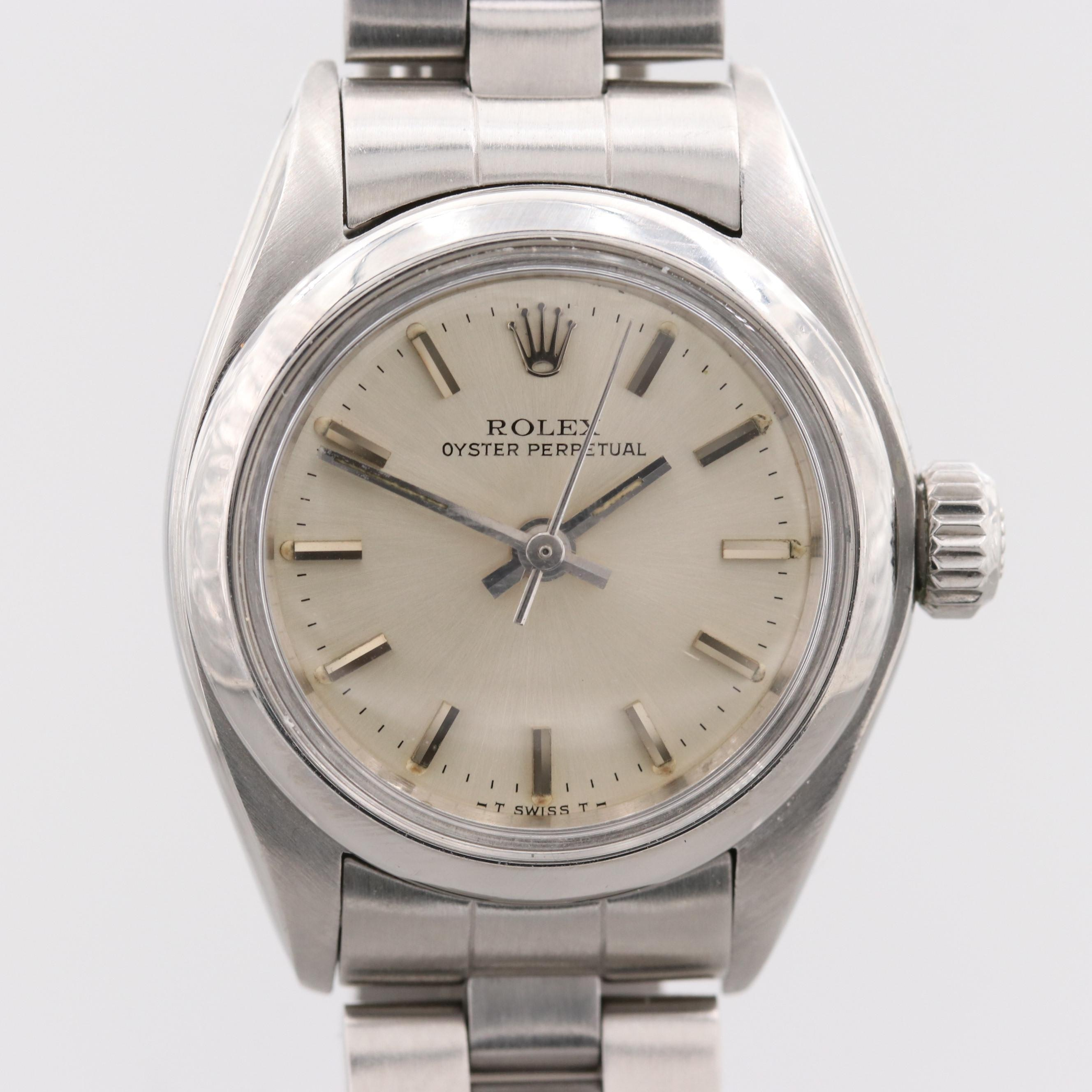 Vintage Rolex Oyster Perpetual Stainless Steel Wristwatch