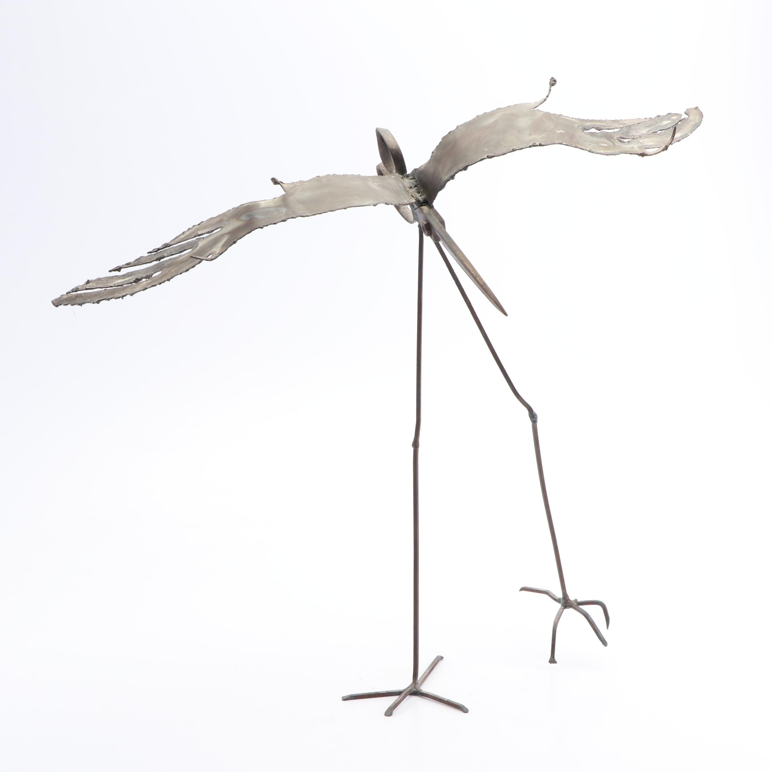 Steel and Iron Winged Scissor Sculpture