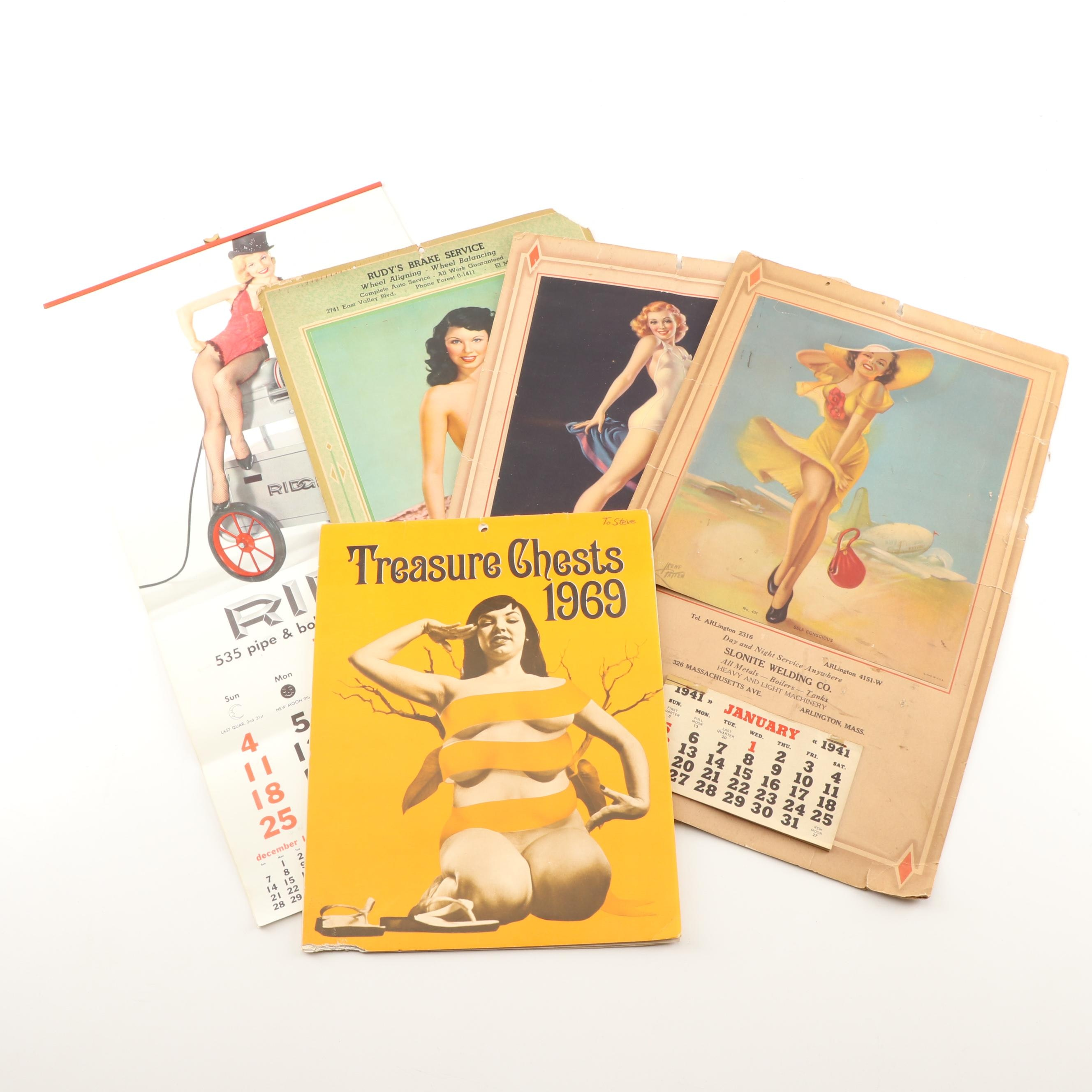 Mid-Century Pinup Calendars