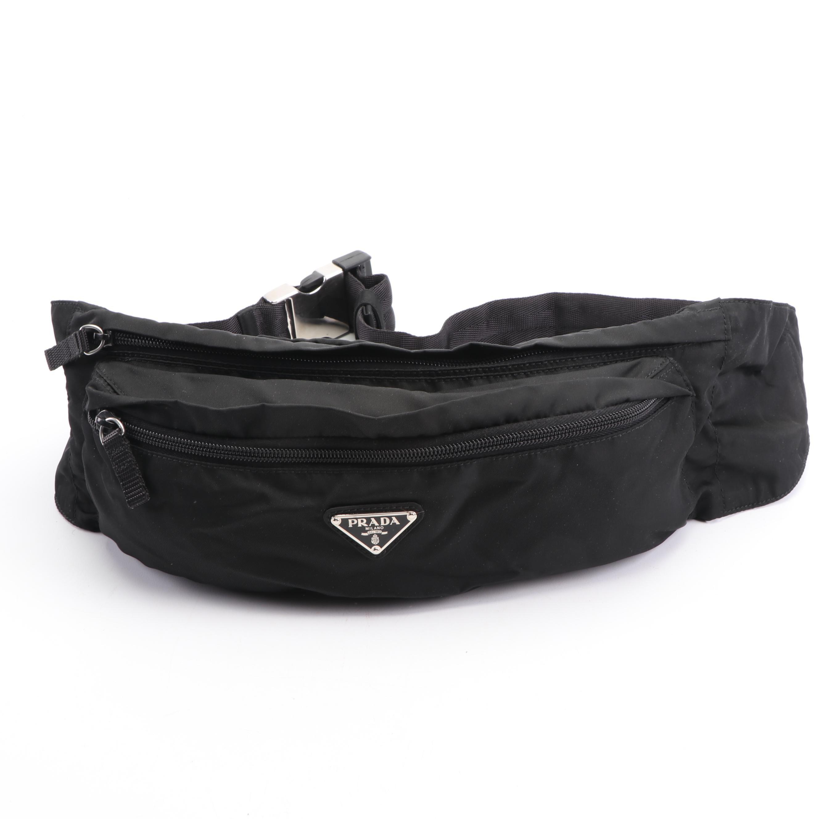 Prada Black Nylon Belt Bag