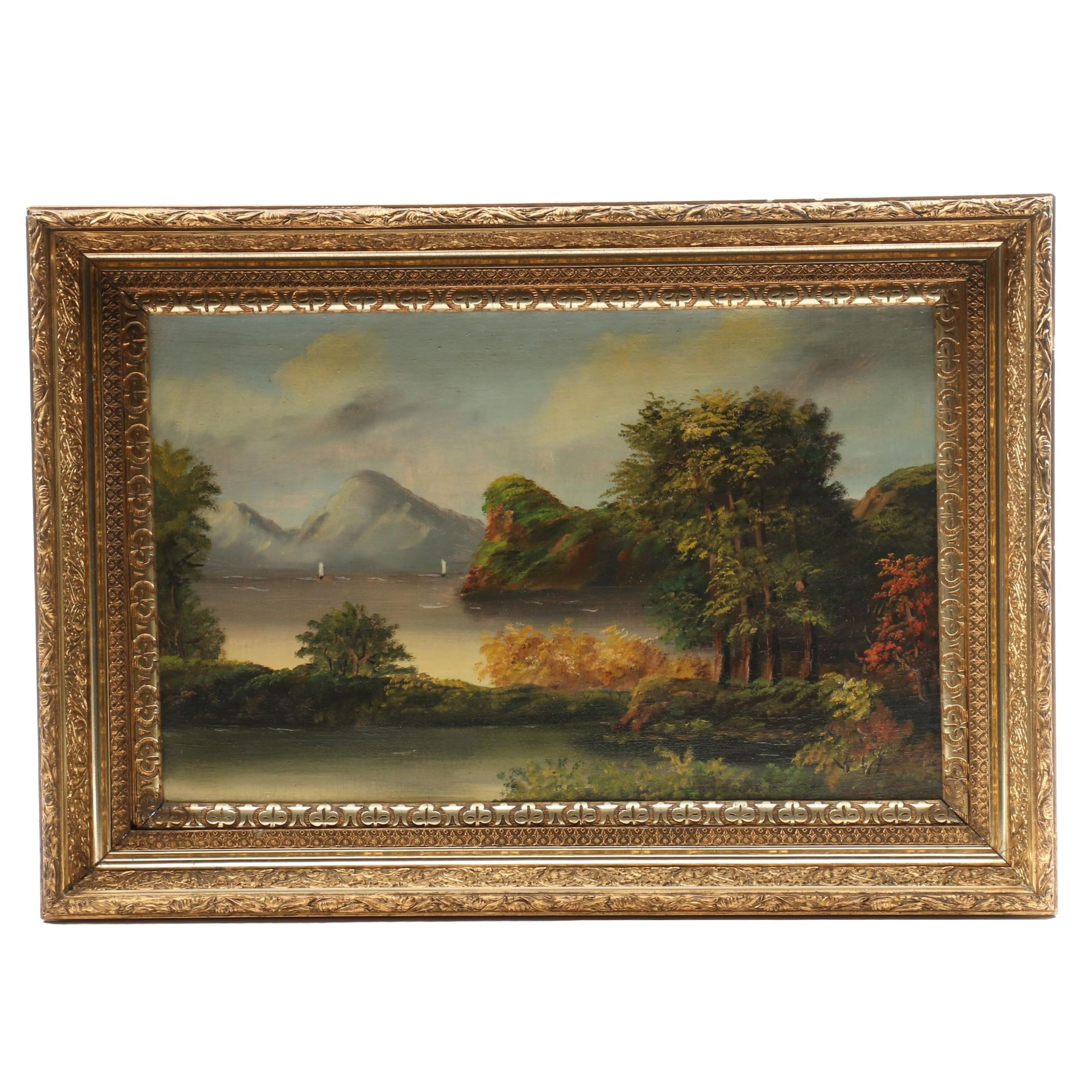 European Autumn Landscape Oil Painting