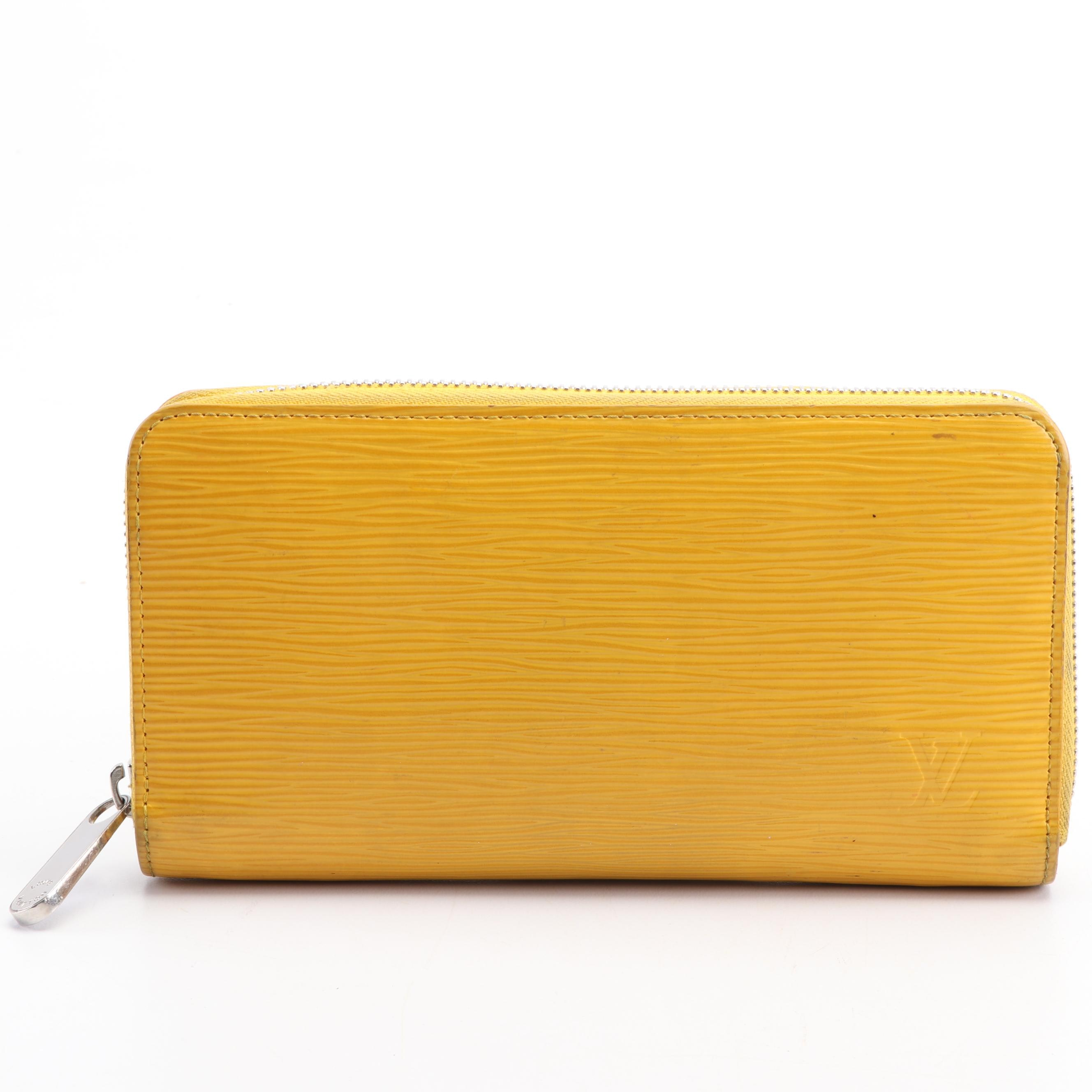 Louis Vuitton Paris Mimosa Yellow Epi Leather Wallet, Made in Spain, 2013