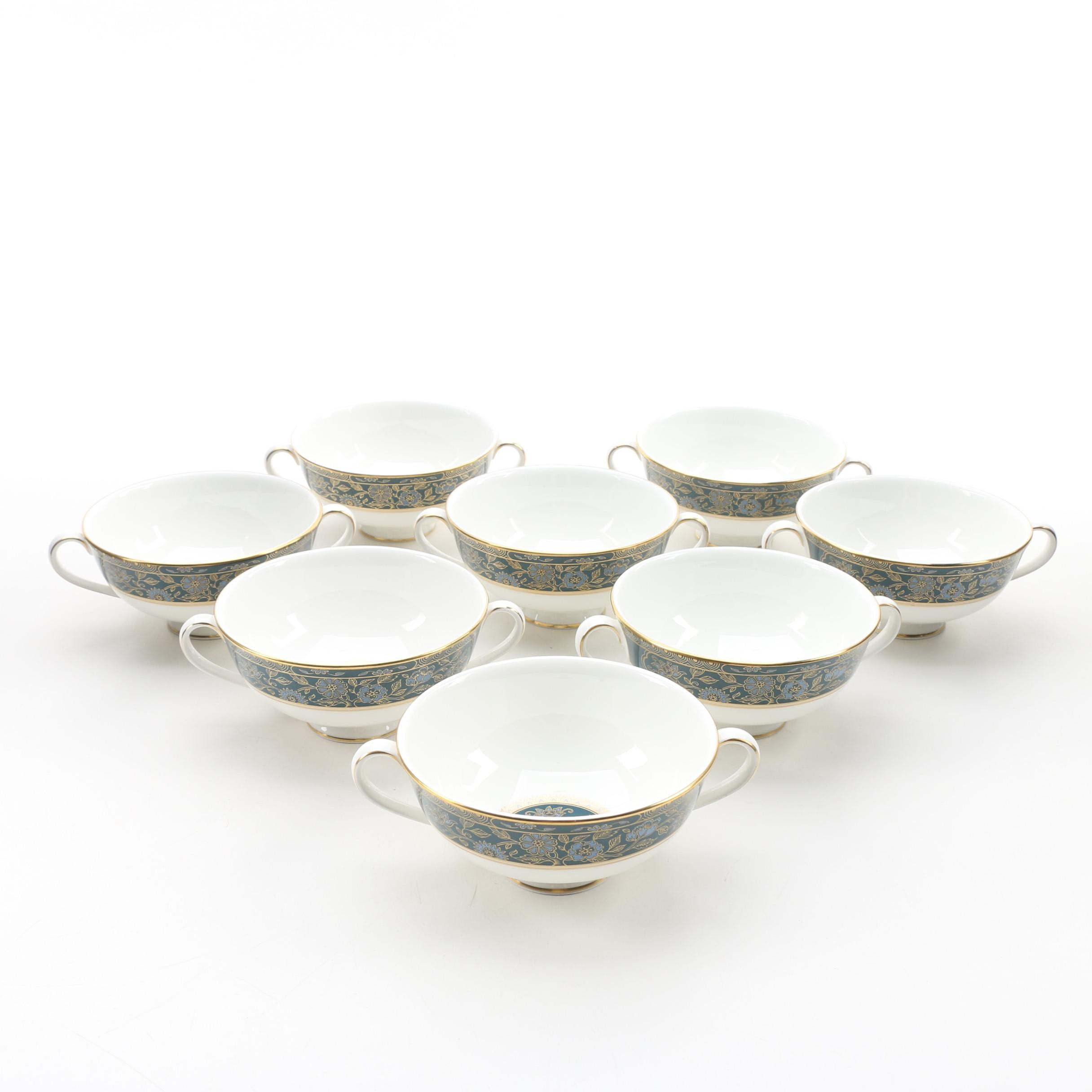 "Royal Doulton ""Carlyle"" Bone China Cream Soup Bowls, 1972-2000"
