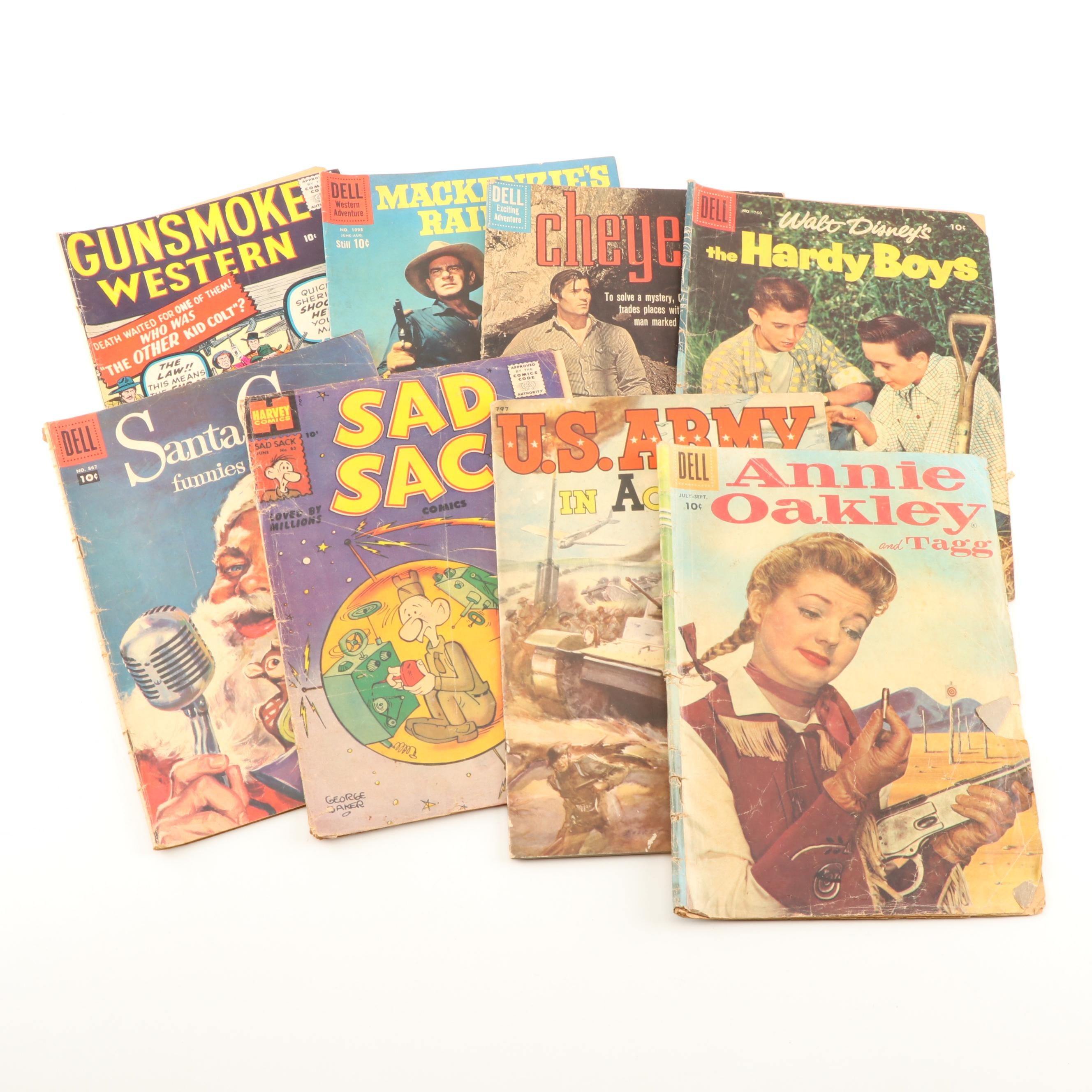 "Golden and Silver Age Comic Books Including ""Annie Oakley and Tagg"""
