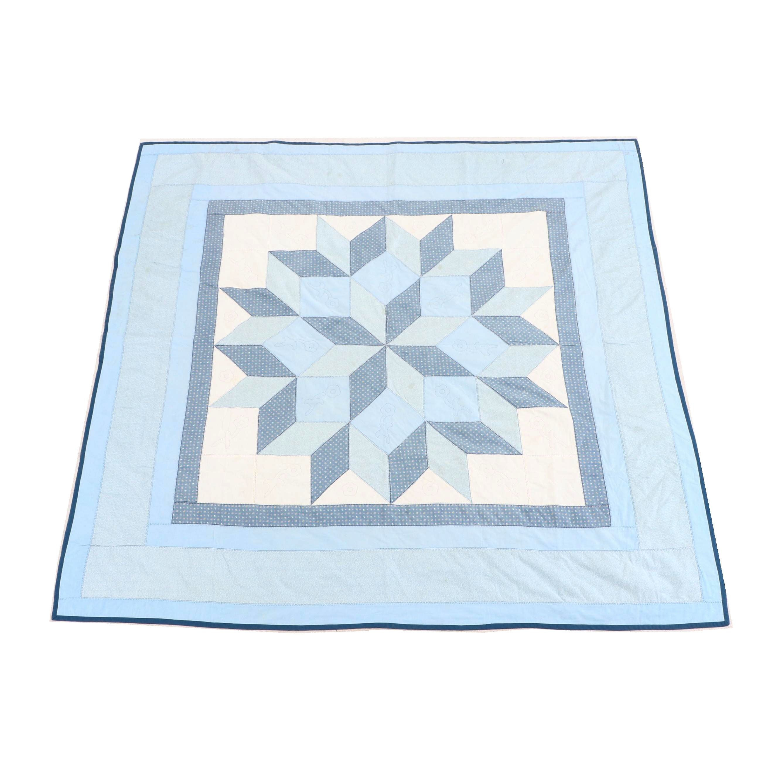 Handcrafted Star Quilt by Ann Fleck