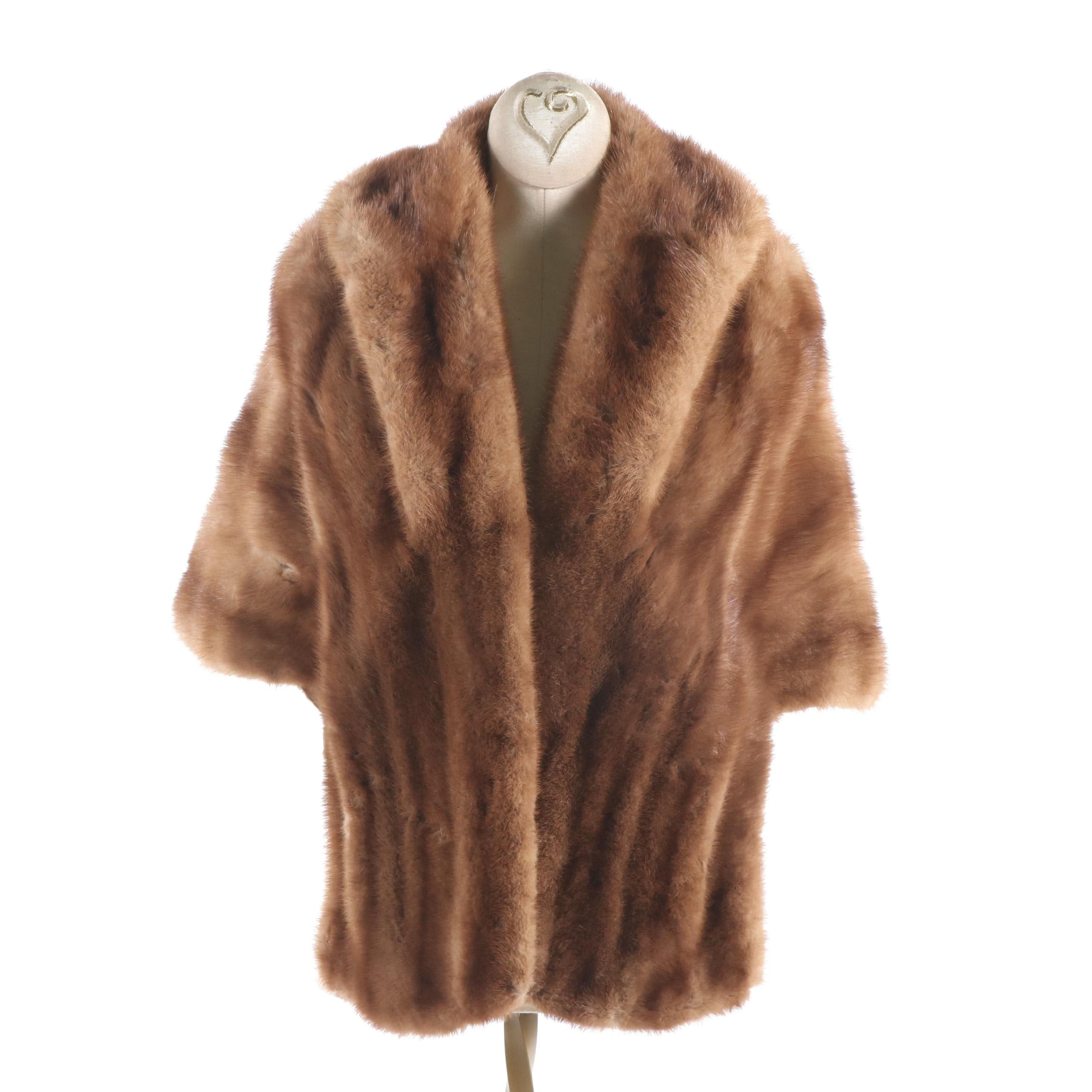 Women's Levy's of Memphis Natural Mink Fur Stole, Vintage