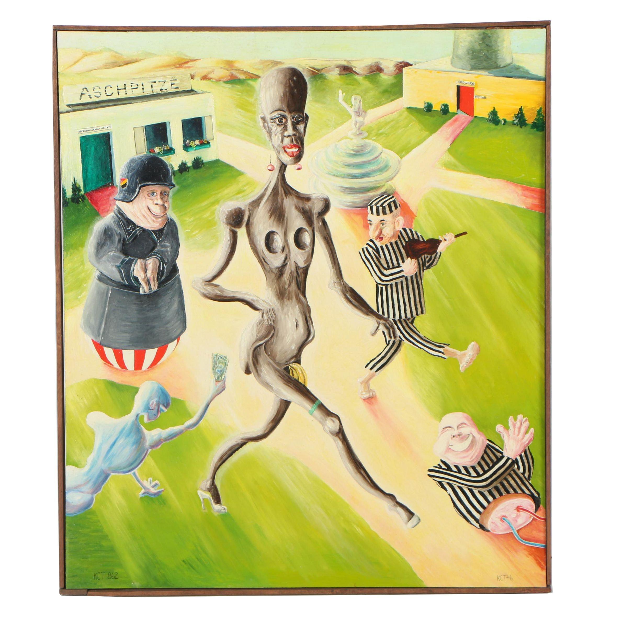 "K.C. Truschel Oil Painting ""Snatchmaker, Snatchmaker"""