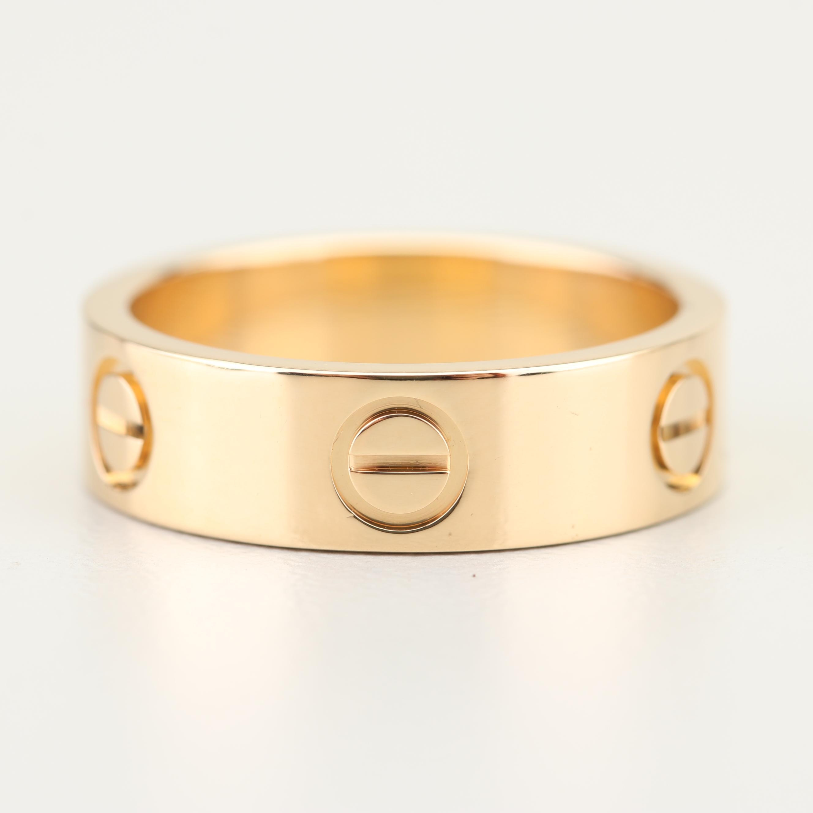 "Cartier 18K Yellow Gold ""Love"" Band"