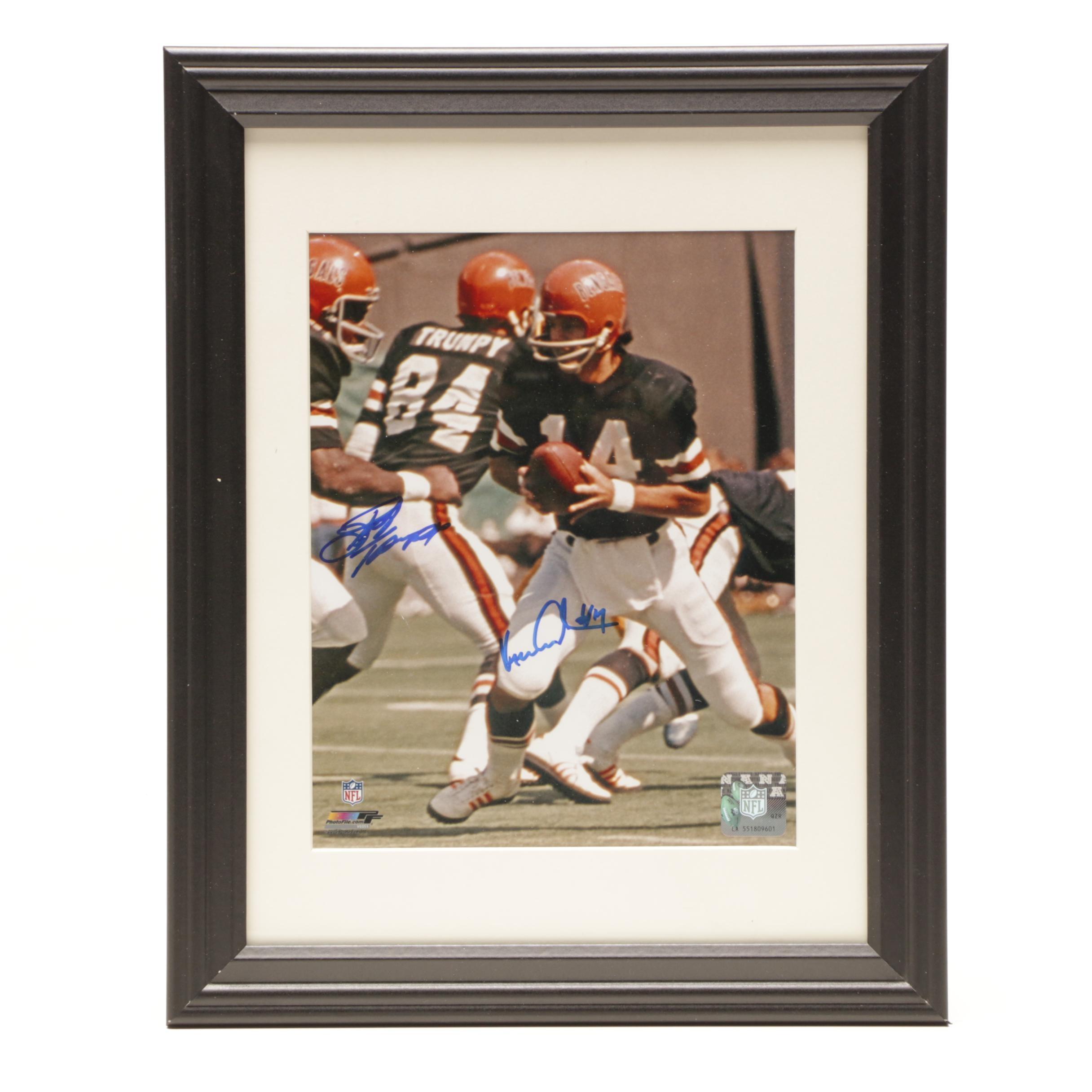 Bob Trumpy and Ken Anderson Signed Cincinnati Bengals Photo Print