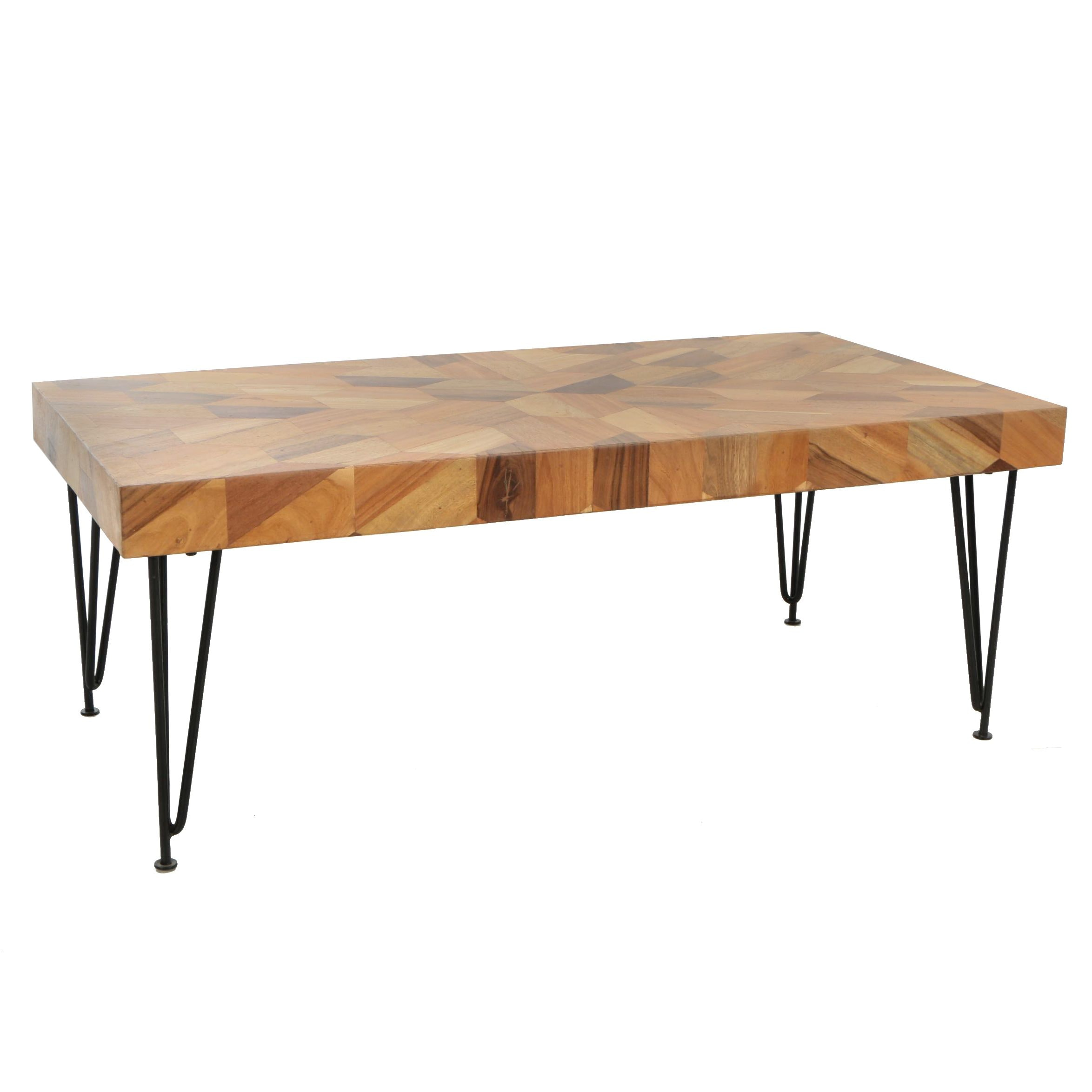 """Kaleidescope"" Acacia Parquetry Coffee Table"