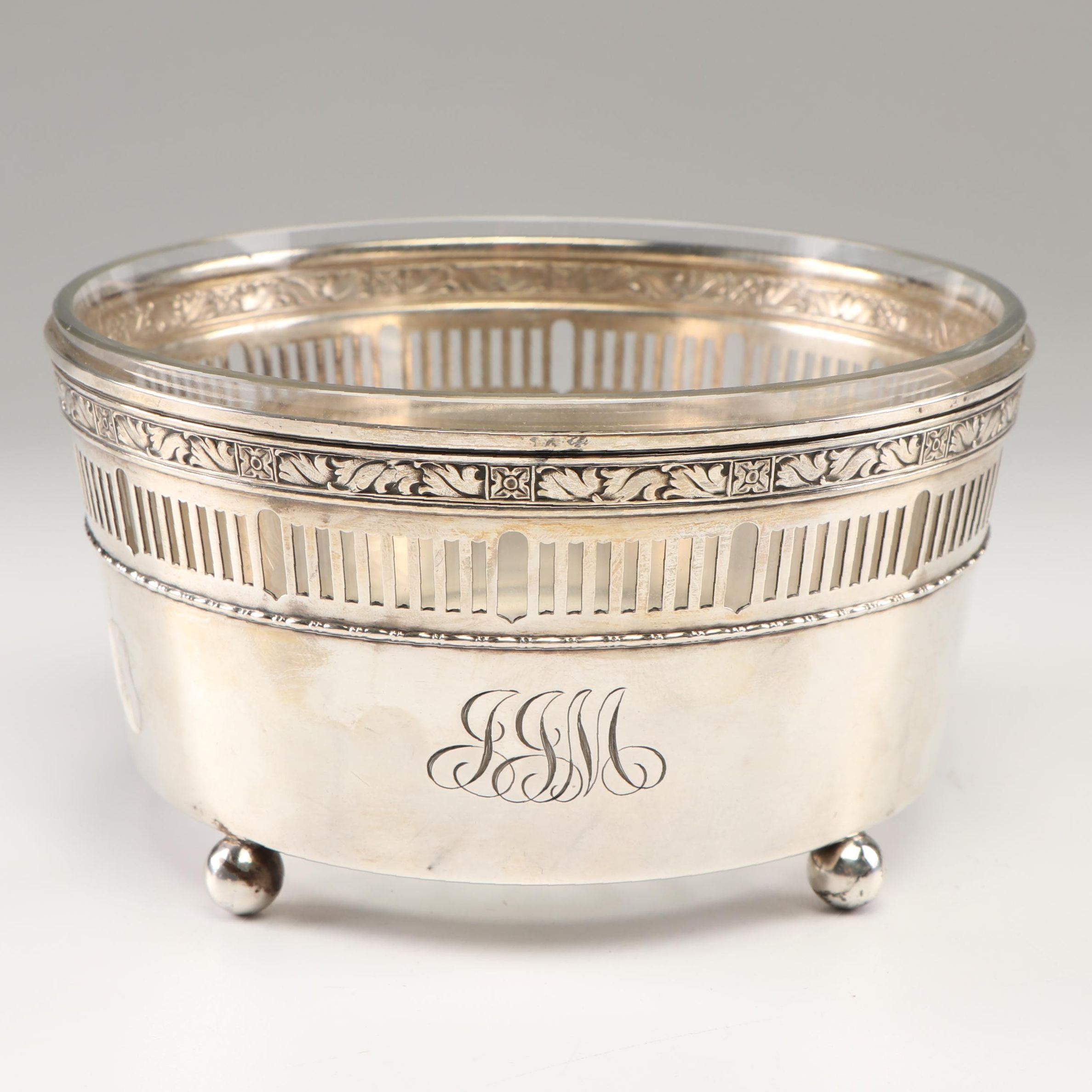 Gorham Cinderella Candy Dish with Sterling Silver Frame, Late 19th Century
