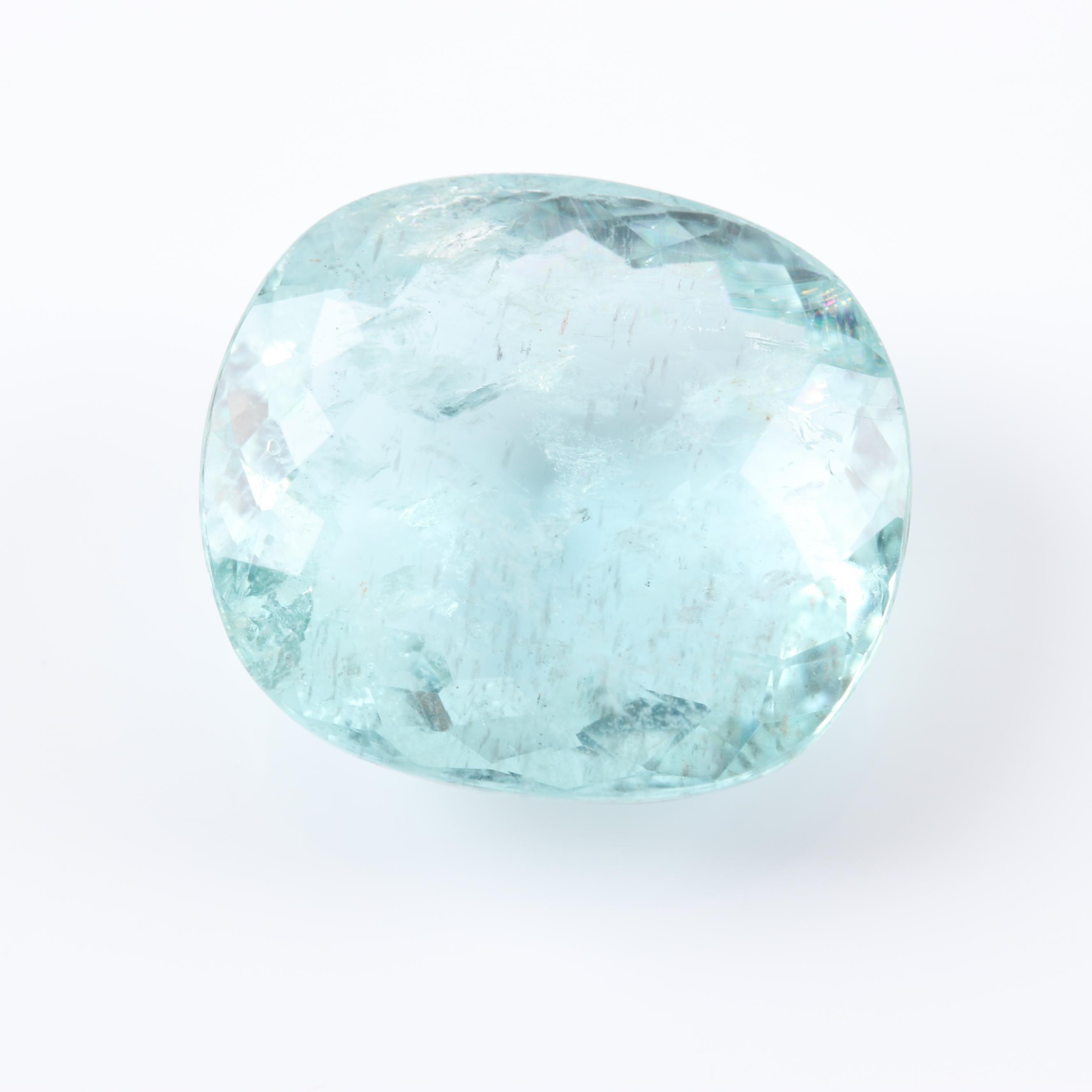 Loose 15.66 CT Aquamarine Gemstone