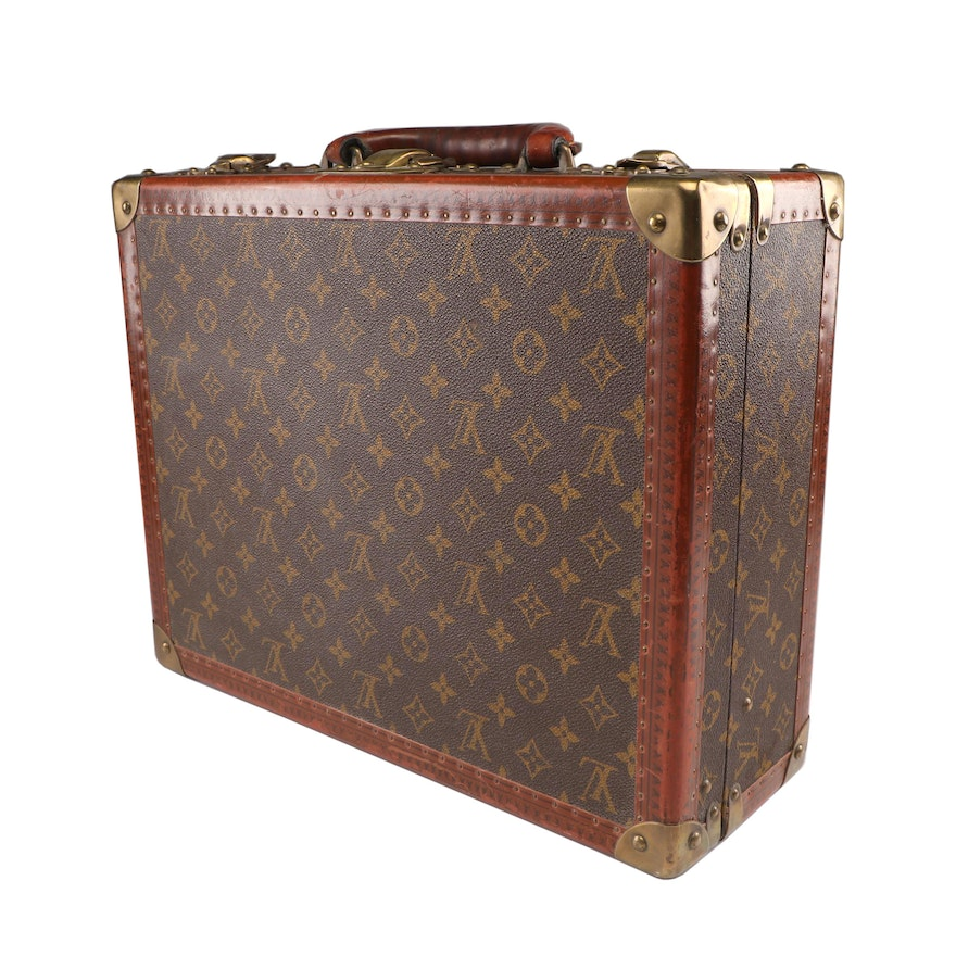 Images For Images For Louis Vuitton Made In France >> Louis Vuitton Paris Monogram Canvas Hardsided Suitcase Made In France Vintage