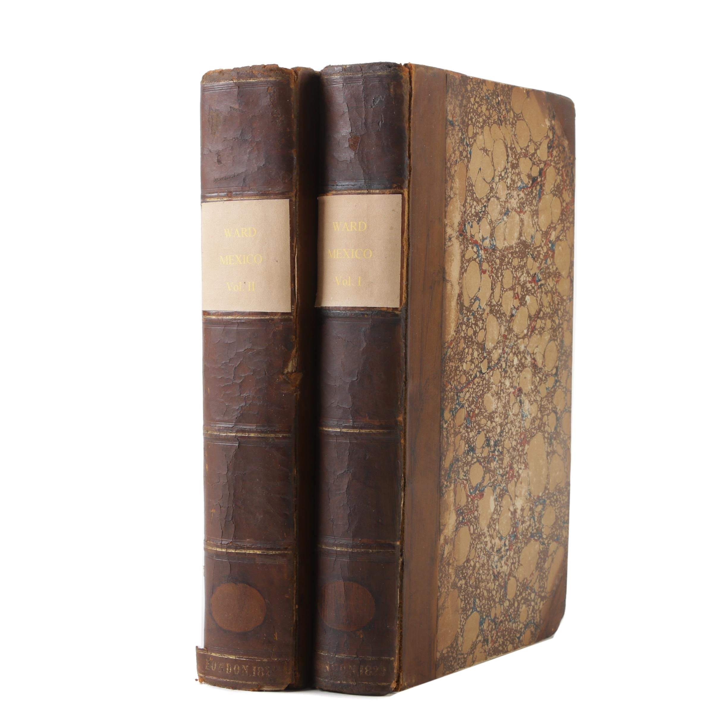 "Second Edition ""Mexico"" Volumes I and II by Henry George Ward, 1829"
