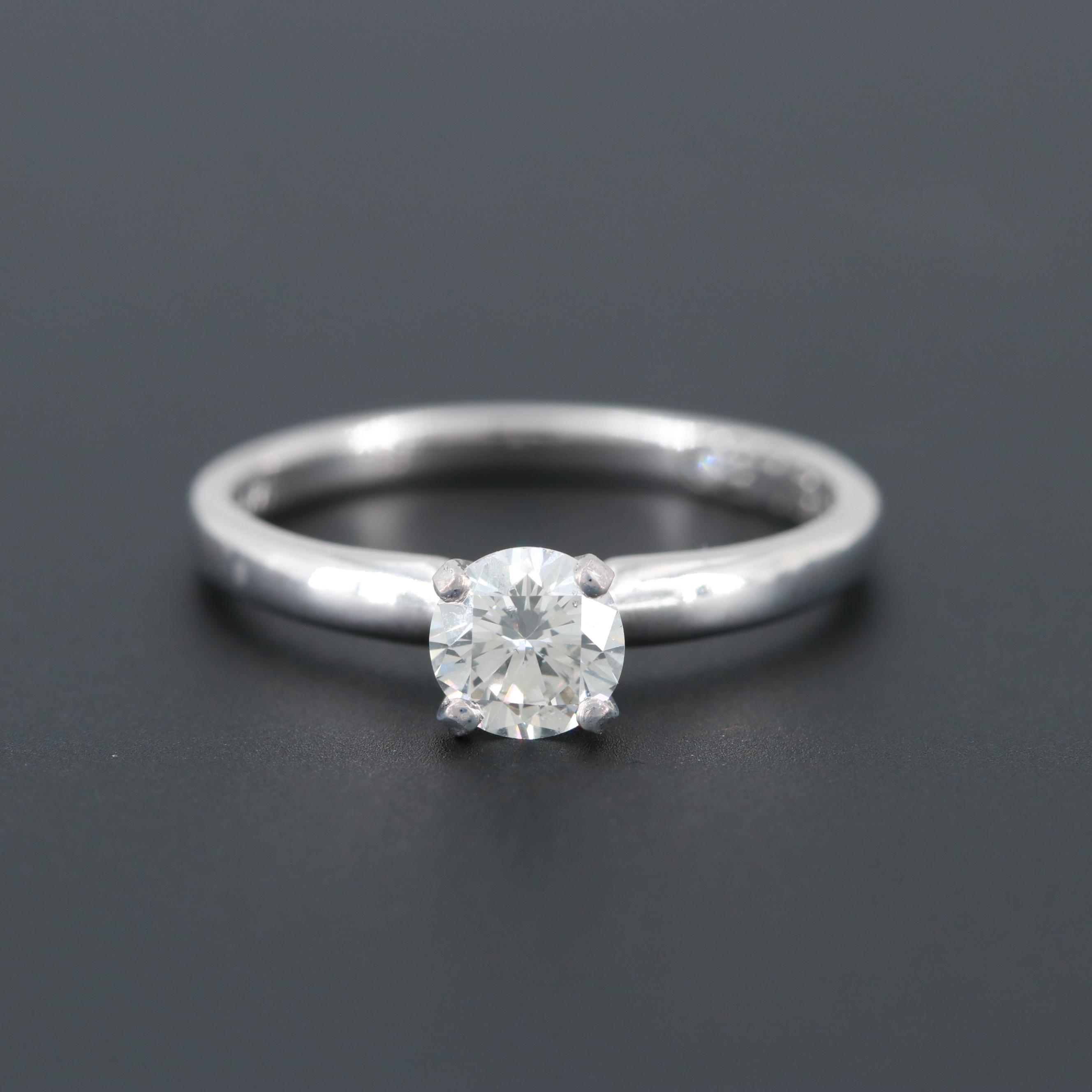 14K White Gold and Platinum Diamond Ring