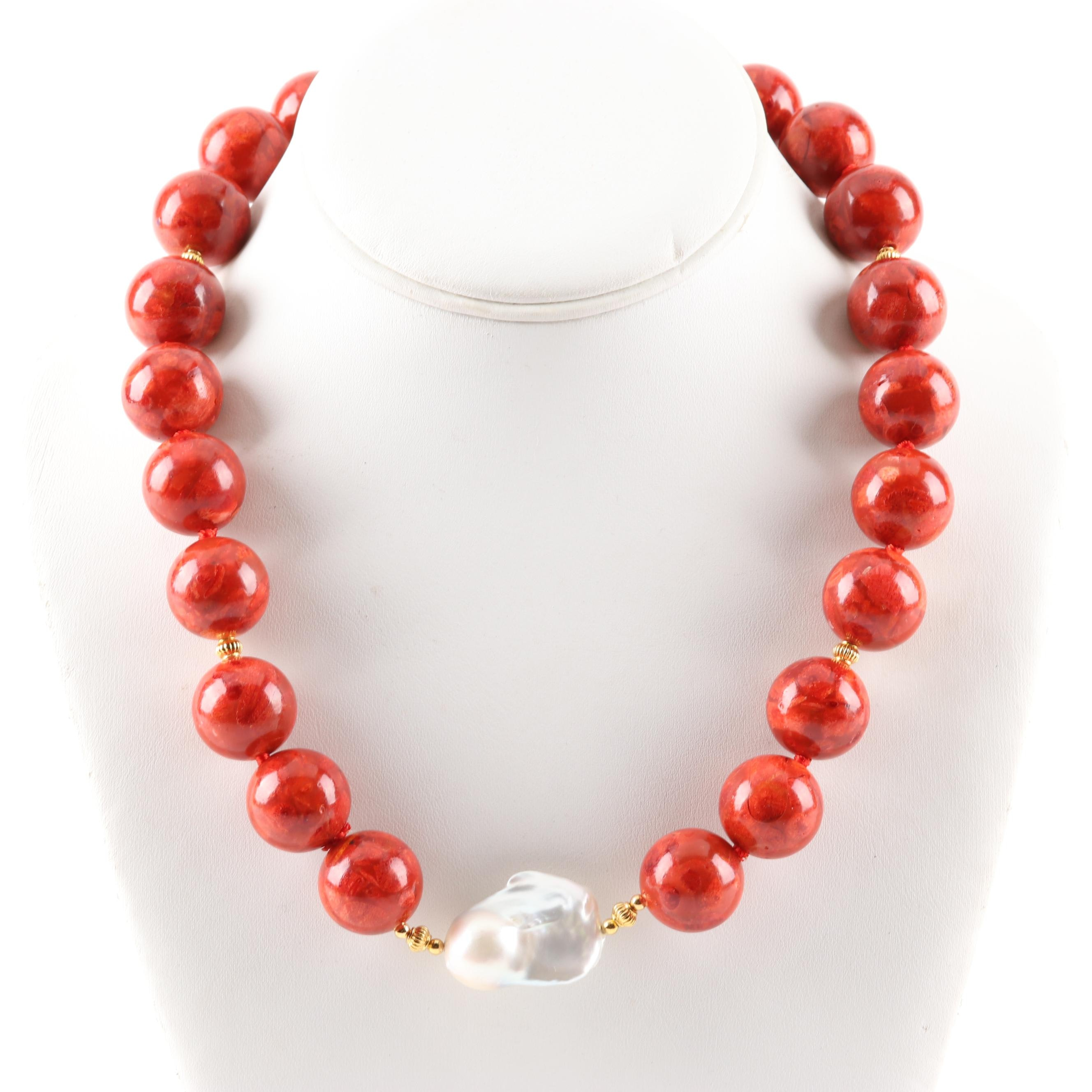 Coral and Freshwater Pearl Strand