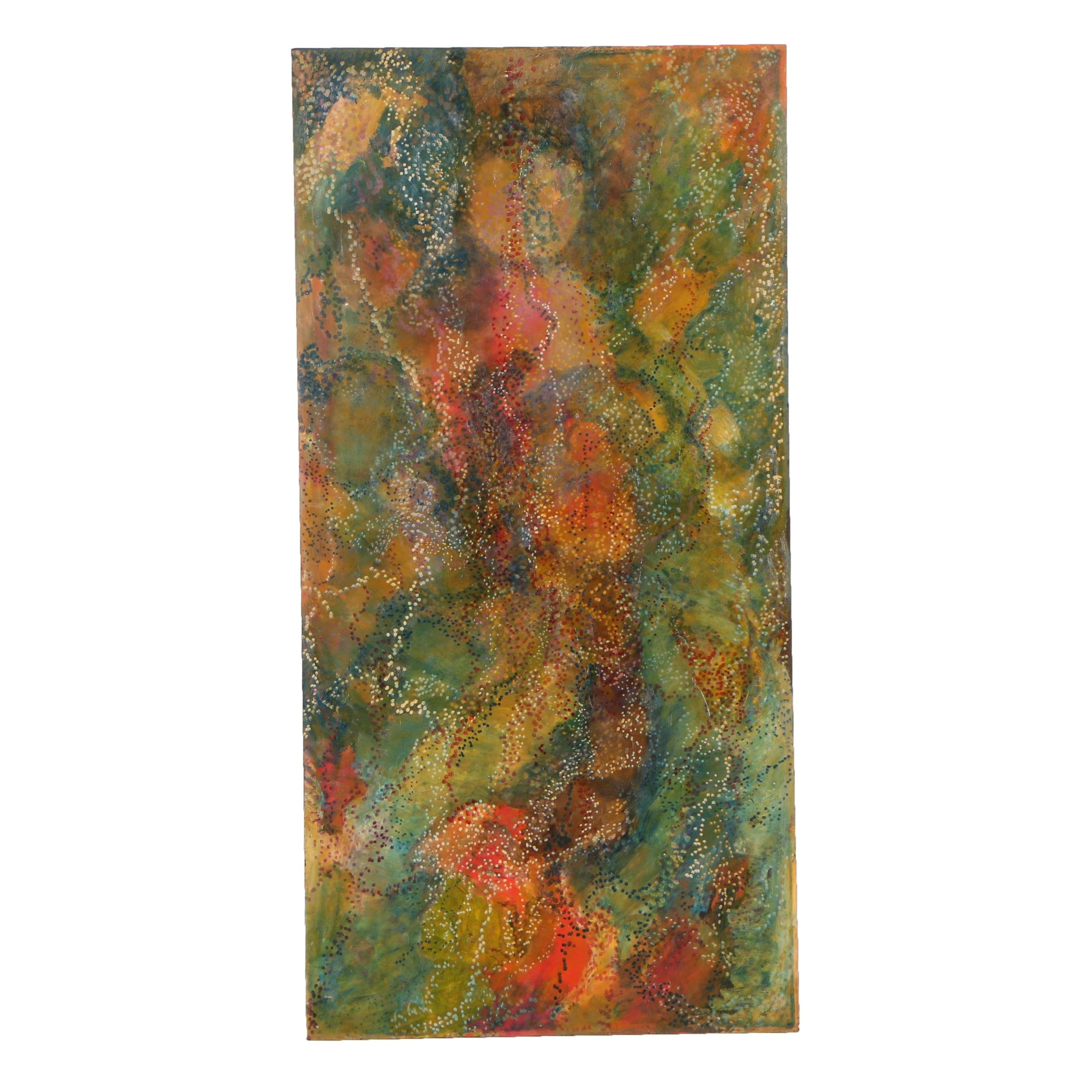 Oscar Murillo Monumental Abstract Oil Painting