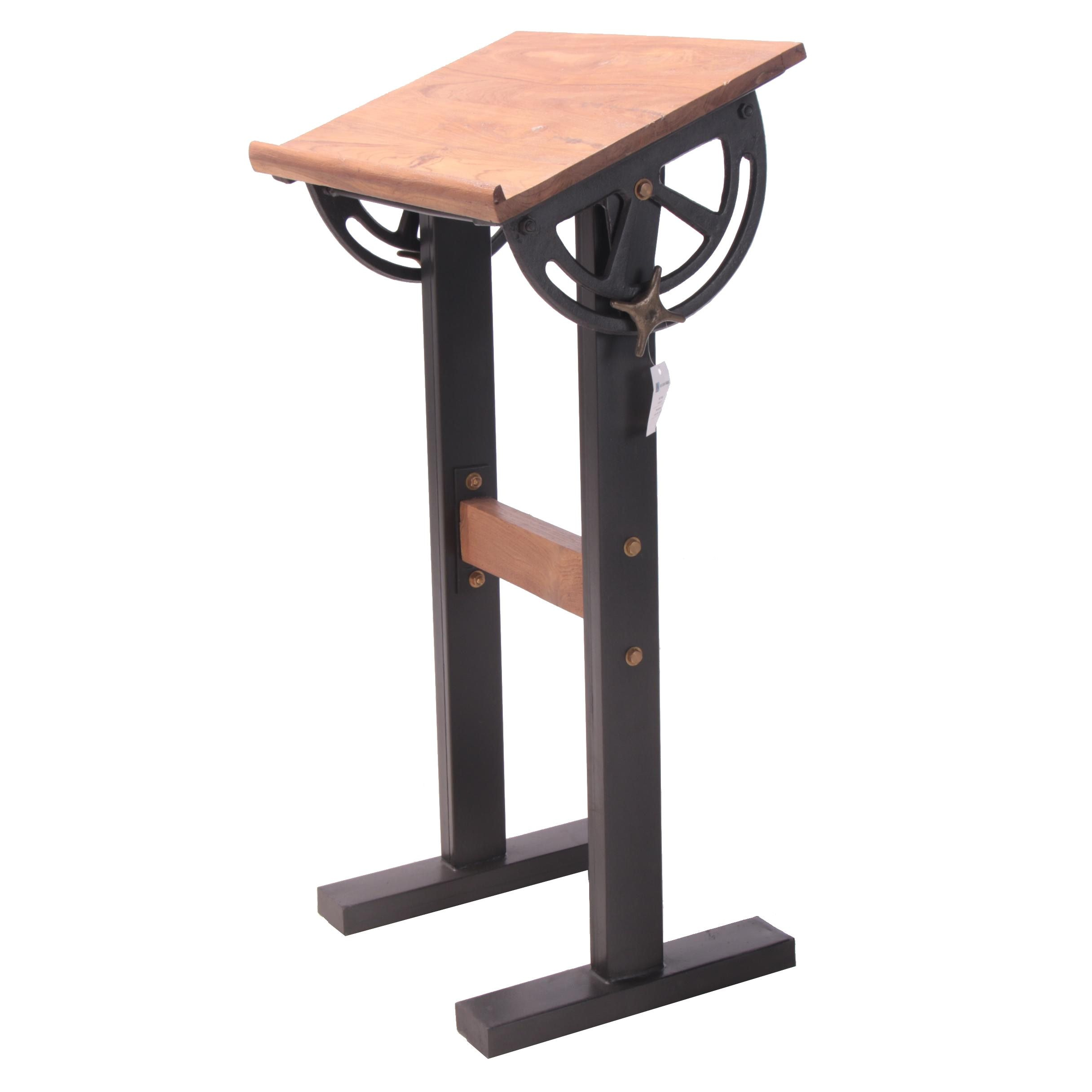 "Industrial Style ""Savile Row"" Pine and Metal Standing Desk"