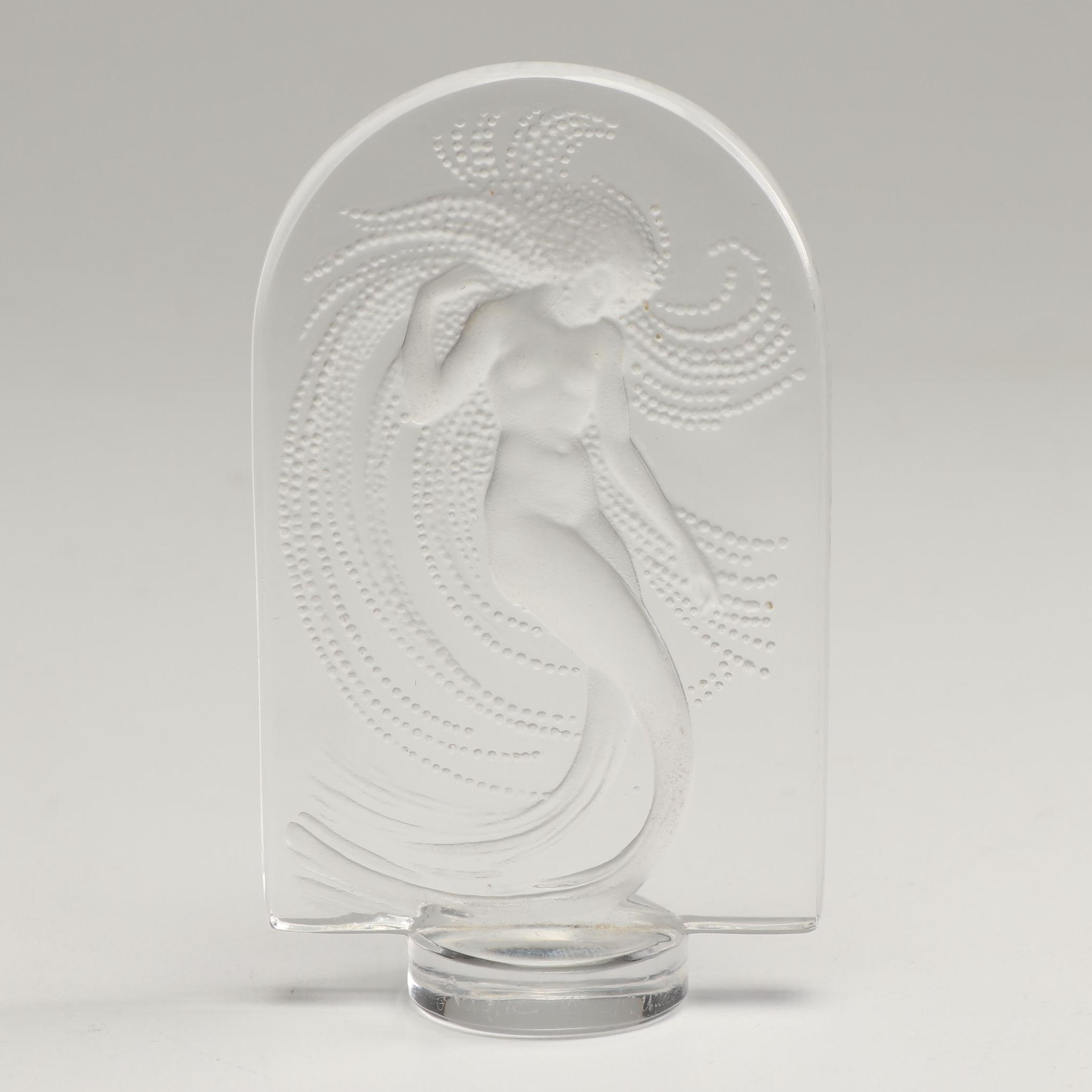 "Lalique Nude Water Nymph ""Sirene Naiad"" Crystal Paperweight"