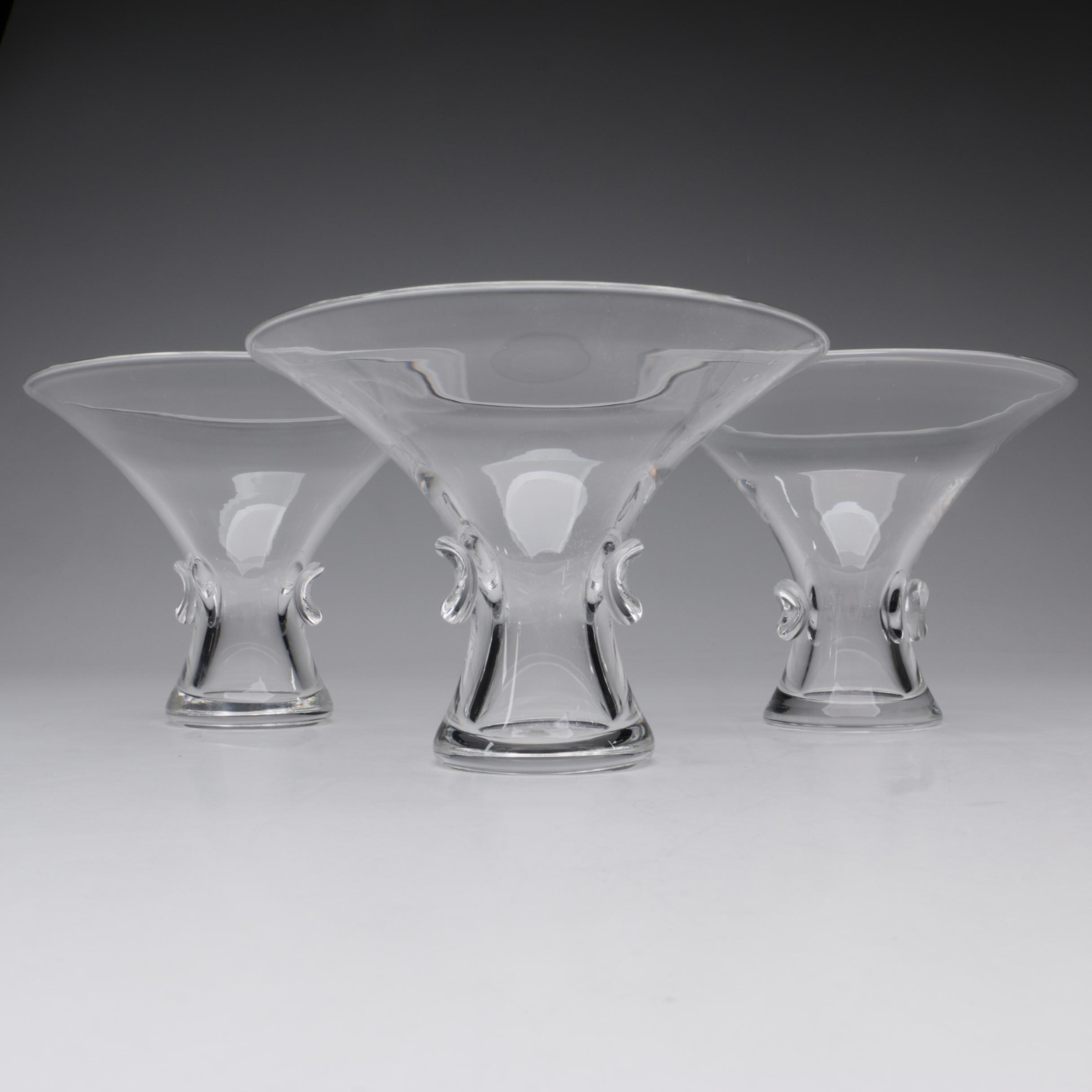 "Steuben Art Glass ""Bouquet"" Vases Designed by George Thompson, 1949"