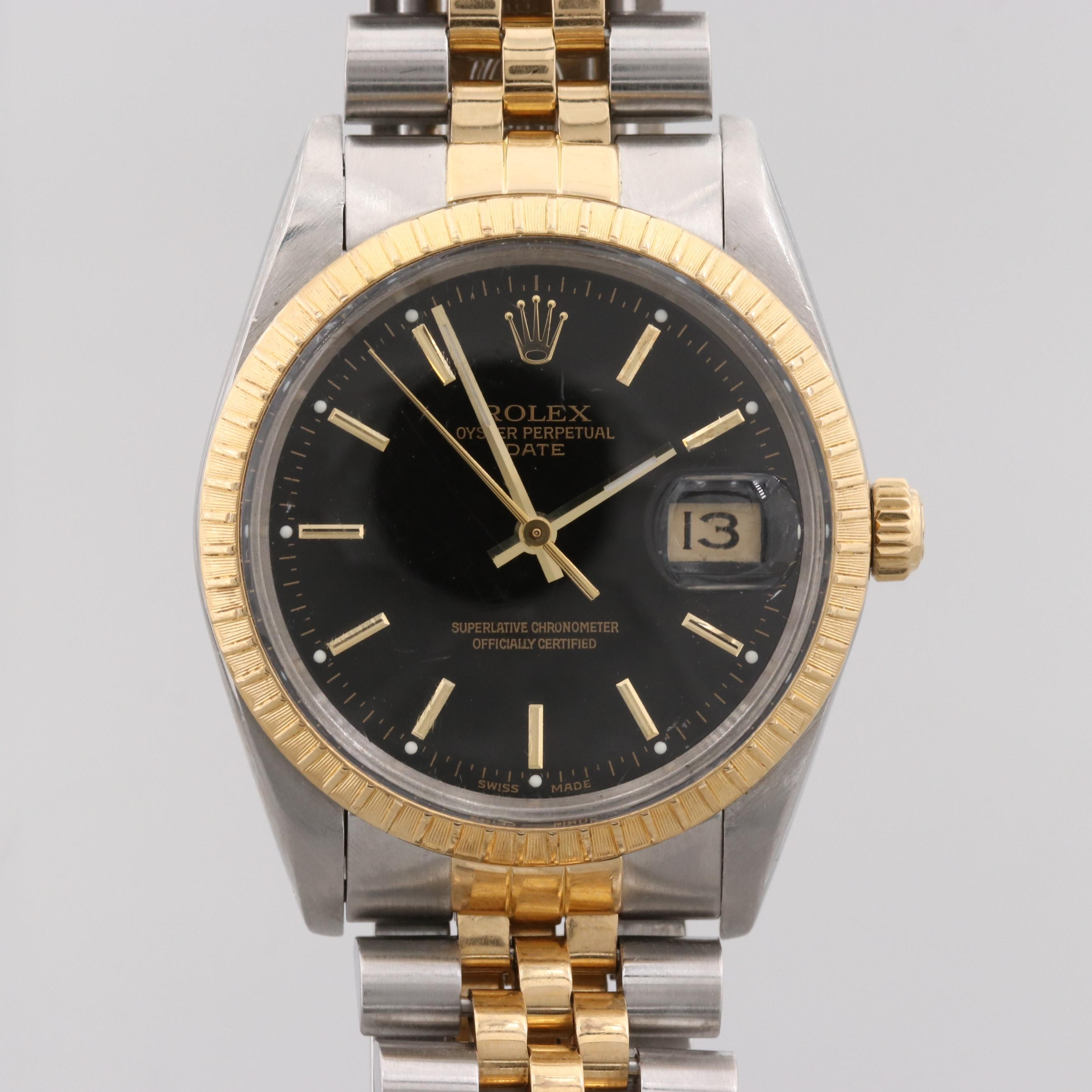 Rolex Datejust Stainless steel and 18K Yellow Gold Automatic Wristwatch, 1986