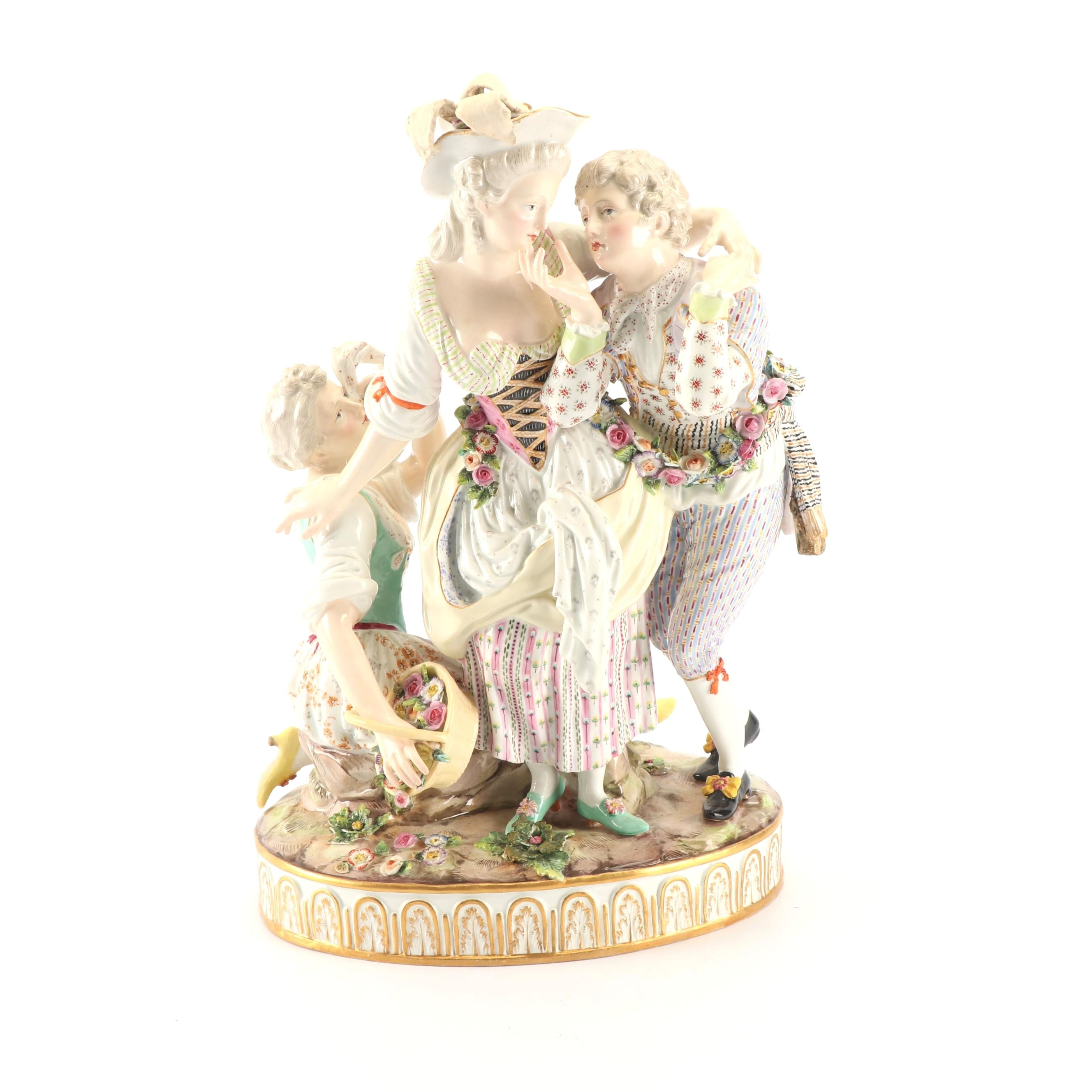Meissen Porcelain Figurine, Late 19th Century