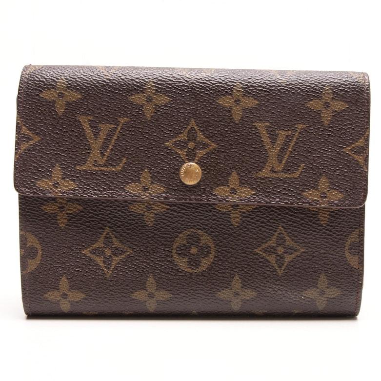 8168fce52d71 Louis Vuitton Monogram Canvas Porte Tresor Etui Papiers Trifold Wallet