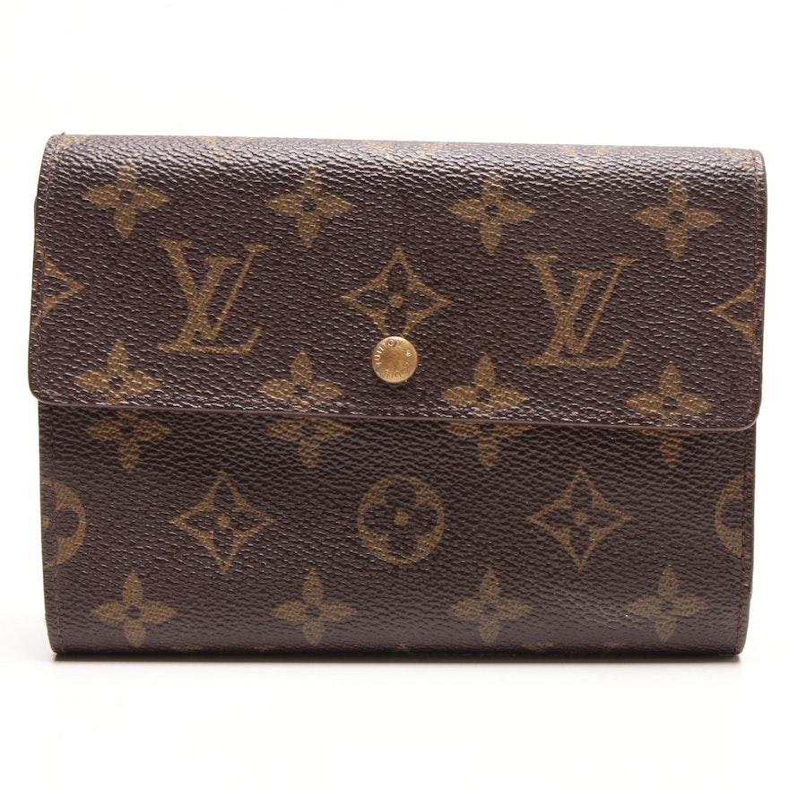 edcb356533a39 Louis Vuitton Monogram Canvas Porte Tresor Etui Papiers Trifold Wallet