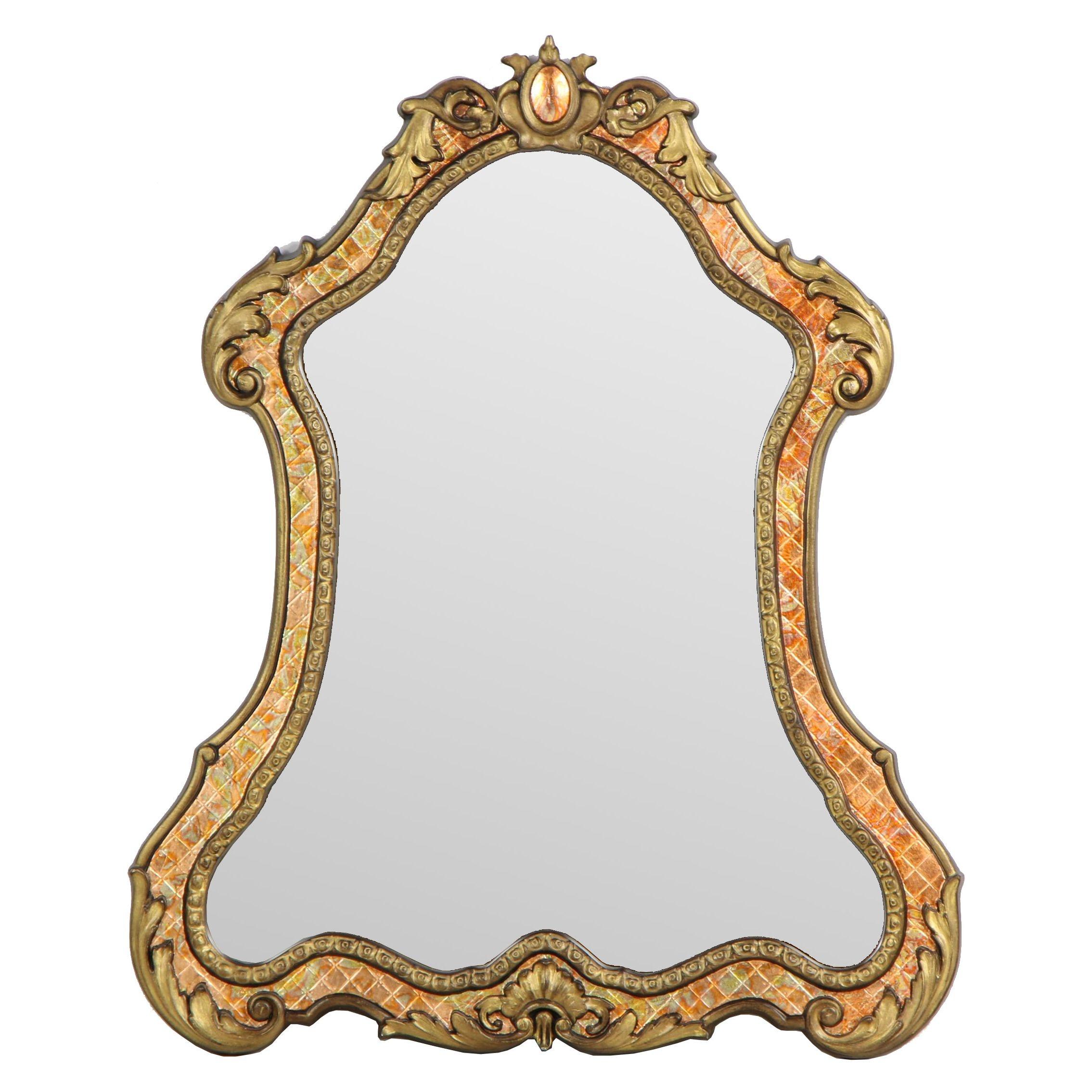 "Allen + Roth Baroque Style ""Washed Espresso"" Mirror"