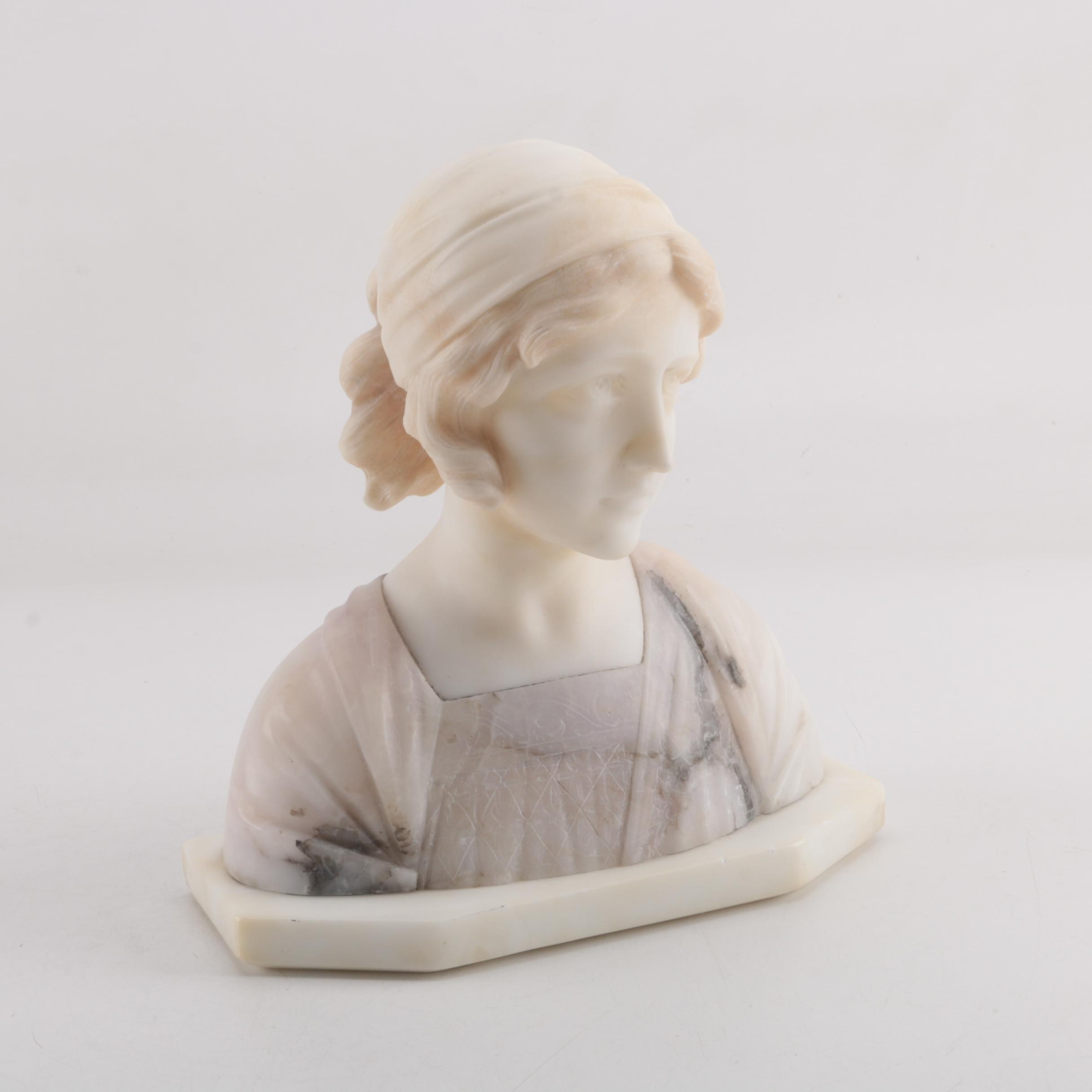 Enrico Castellucci Alabaster Sculpture