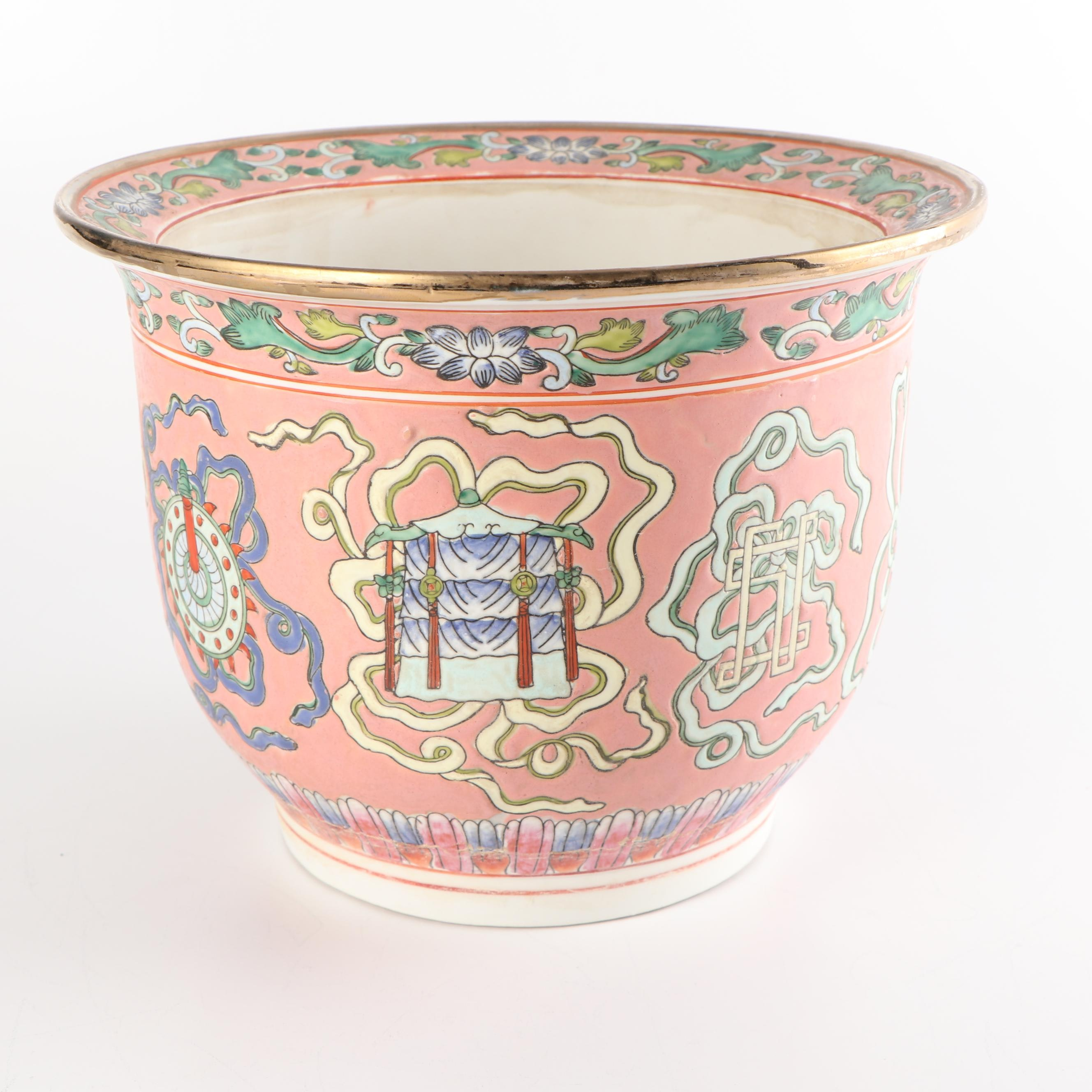 Hand Painted Chinese Porcelain Planter