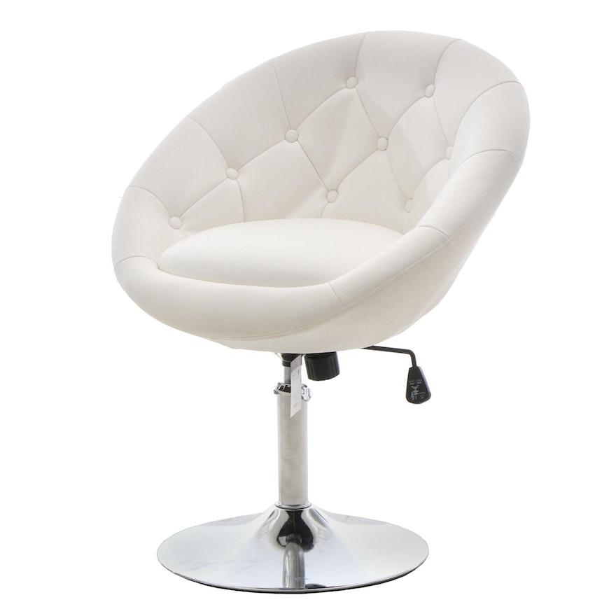 Pleasant Modern Round Hill Furniture Swiveling Barrel Back Chair Uwap Interior Chair Design Uwaporg