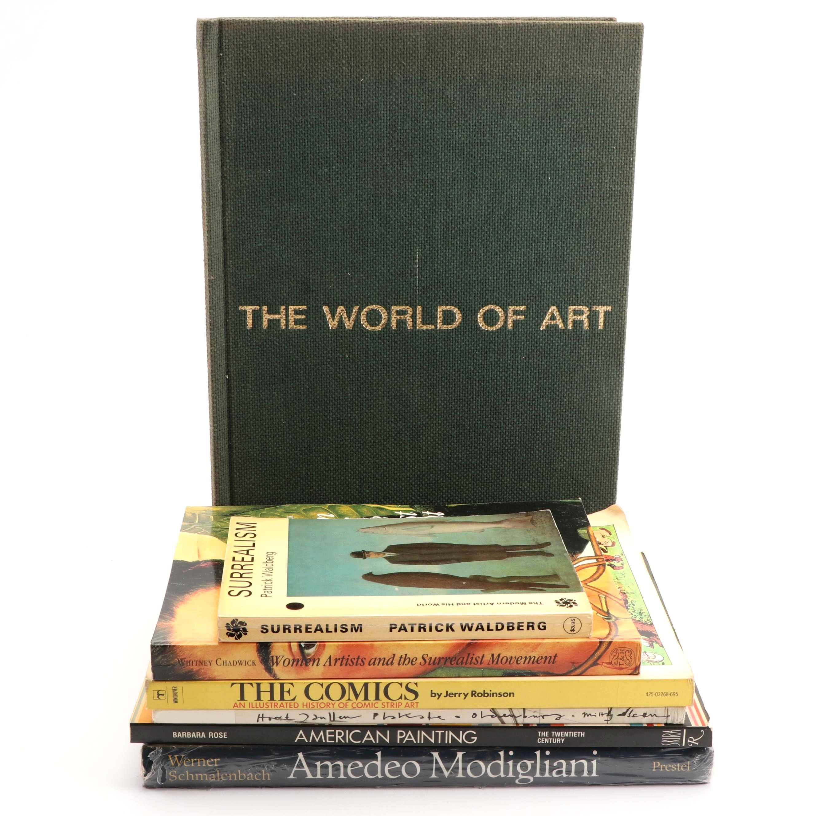 "Art Books including ""American Painting"" by Barbara Rose"