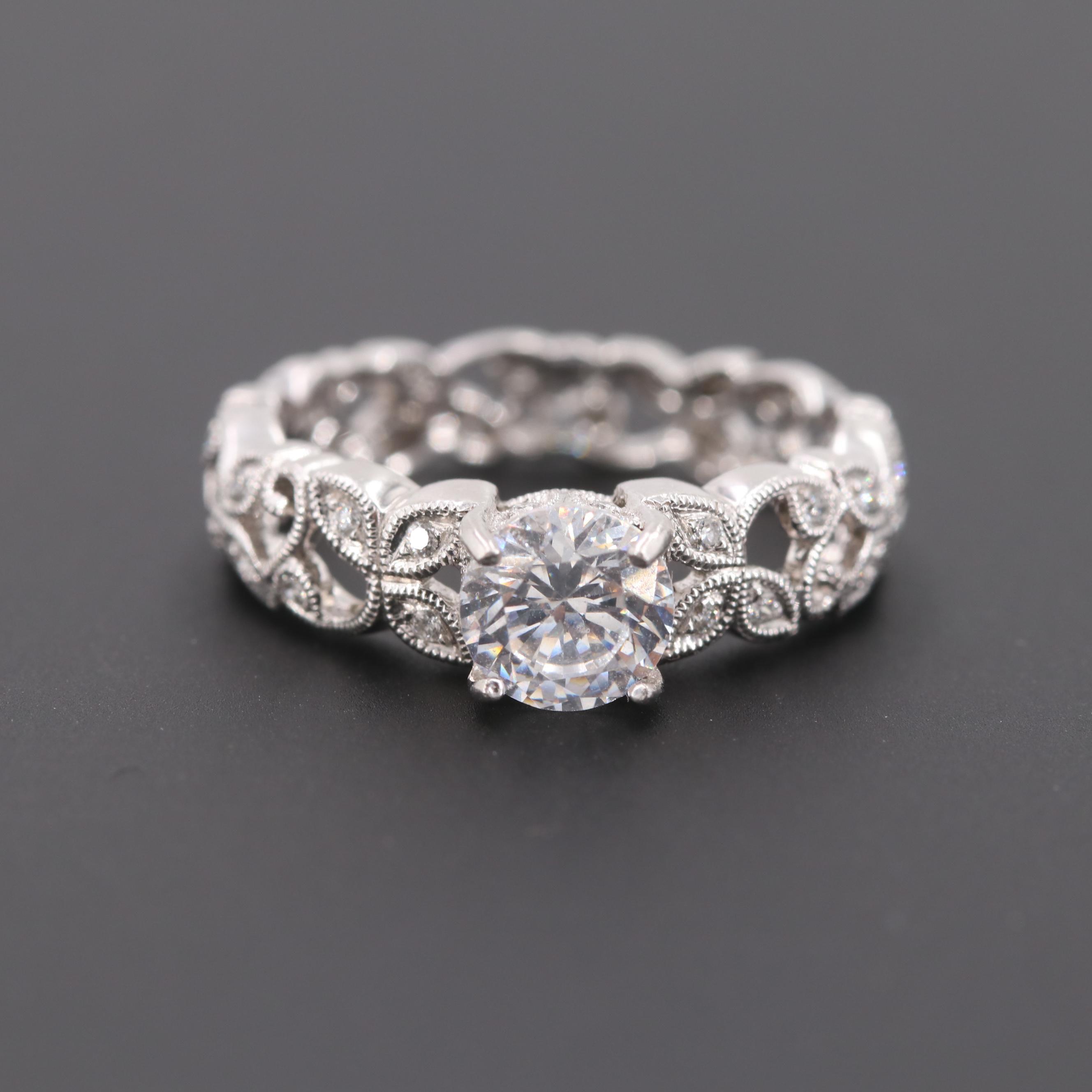 Beverly K Platinum Diamond Semi-Mount Ring