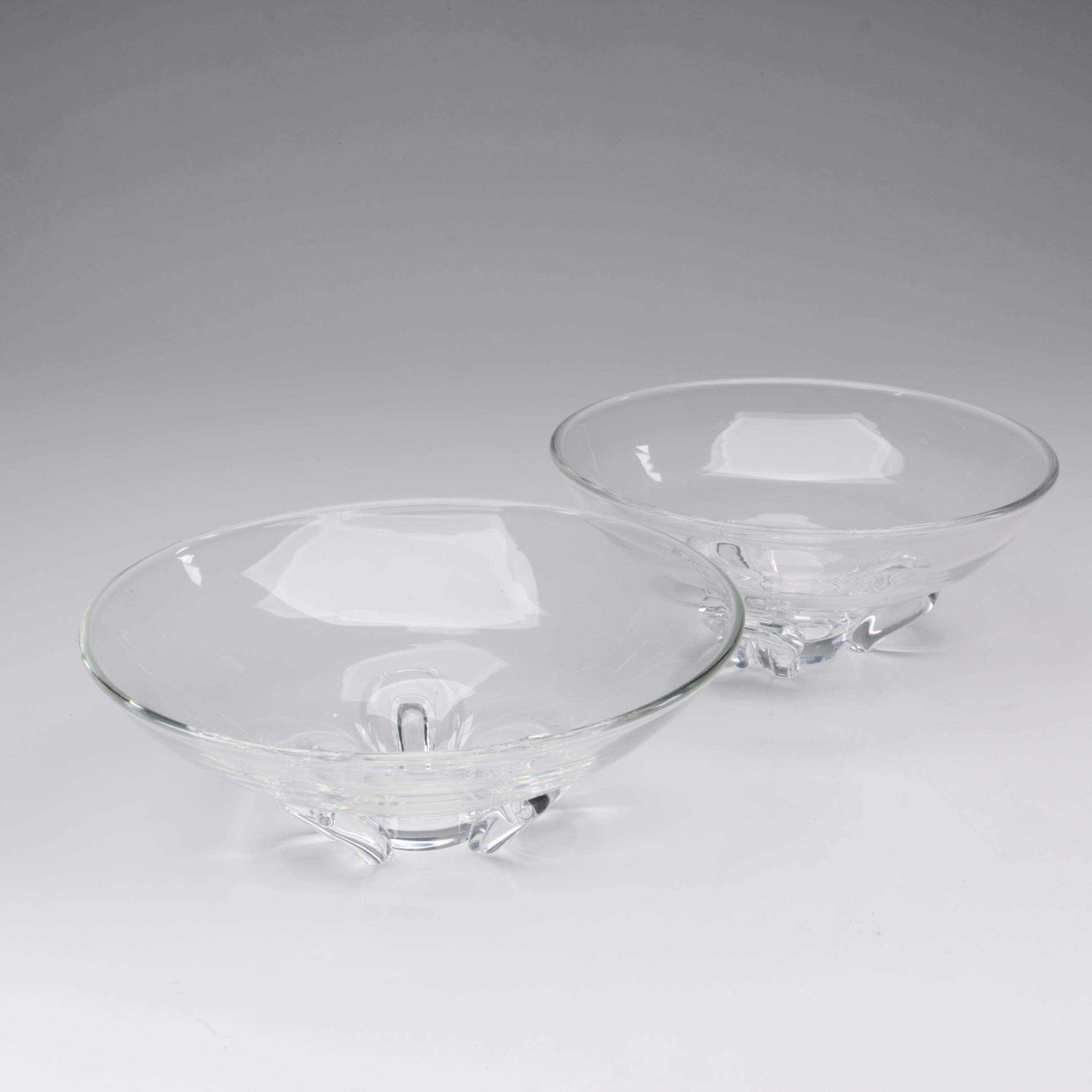"Steuben Art Glass ""Florette"" Bowls Designed by Donald Pollard, 1954"