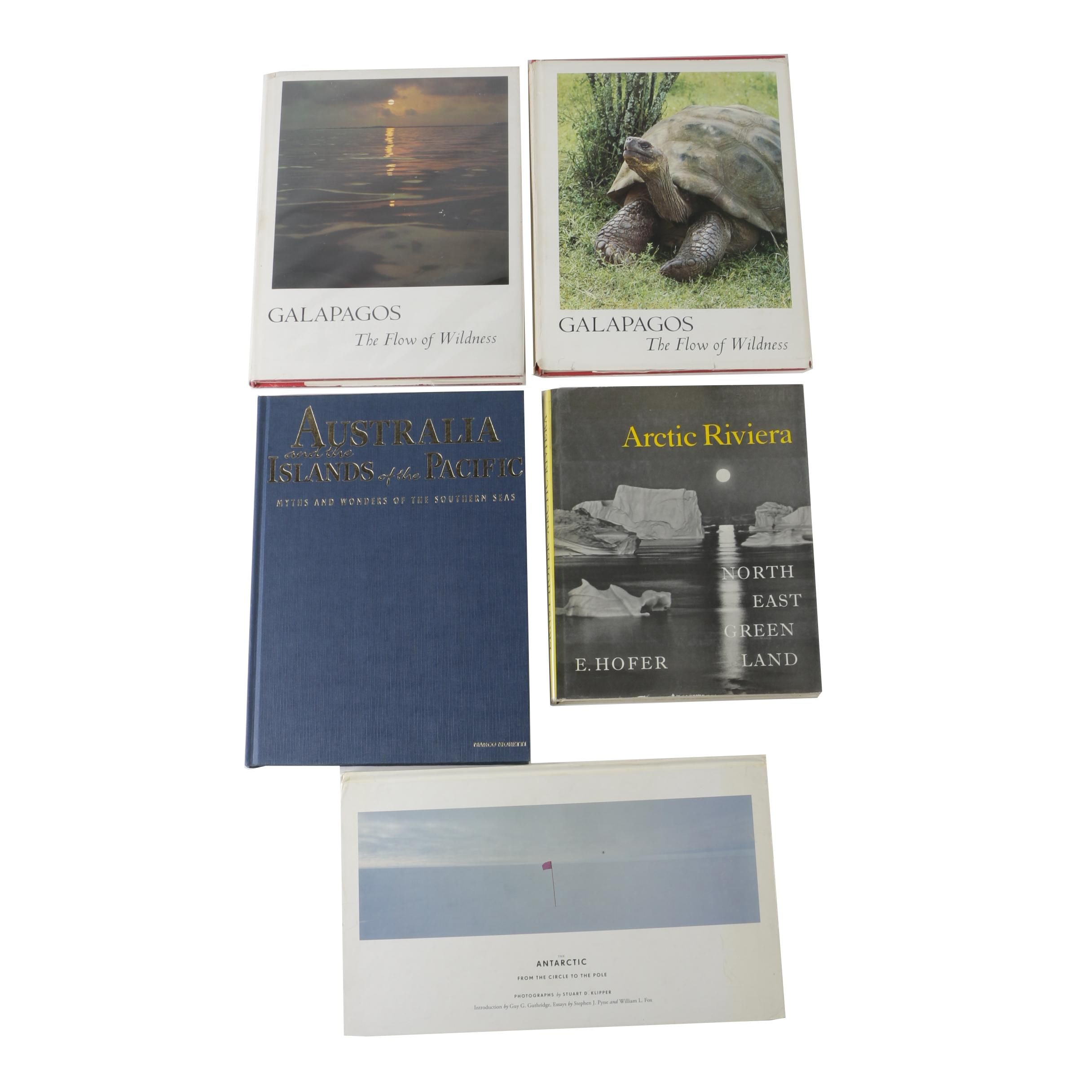 "Nature Books Including ""Galapagos: The Flow of Wildness, Volumes 1 and 2"""
