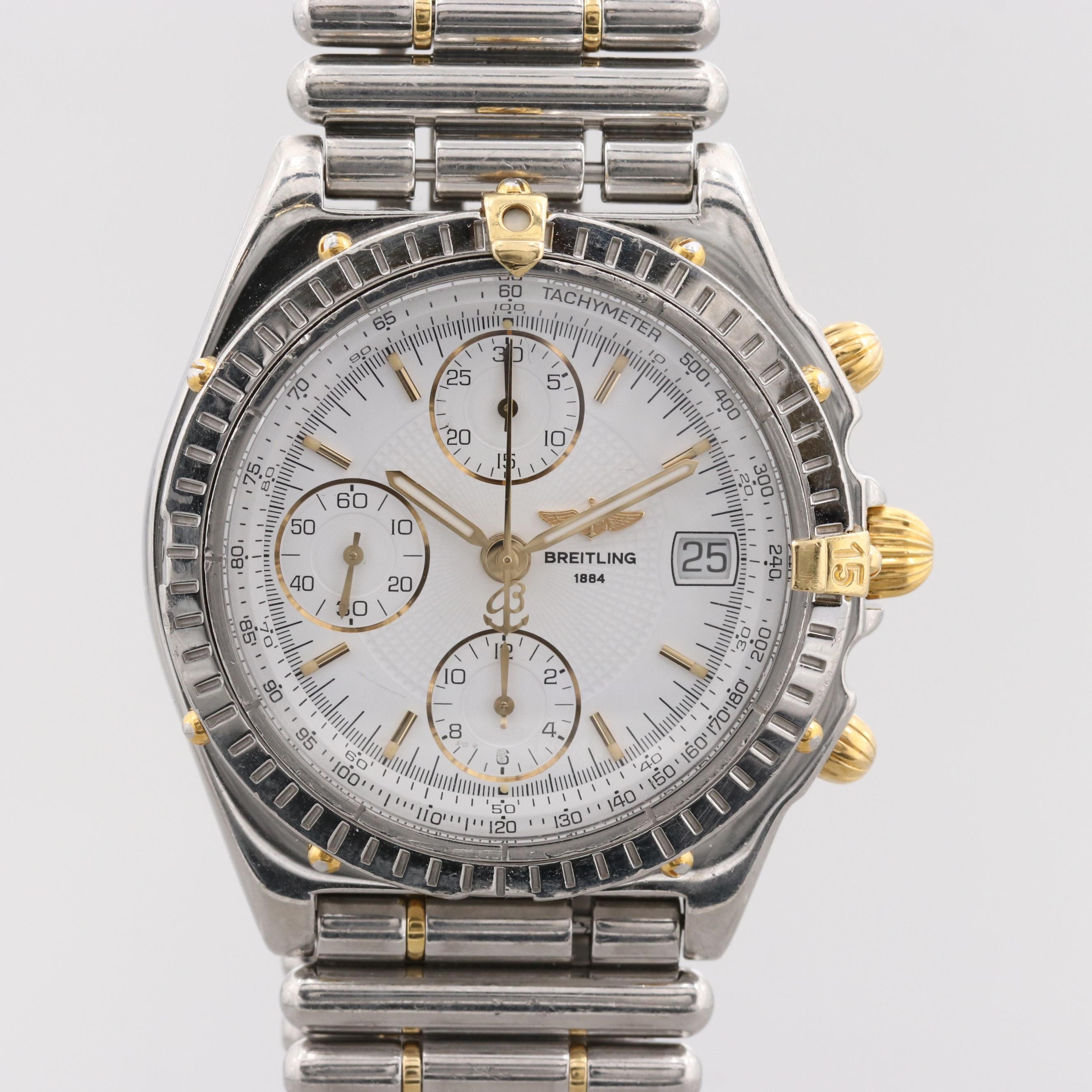 Breitling Chronomat Stainless Steel and 18K Yellow Gold Automatic Wristwatch