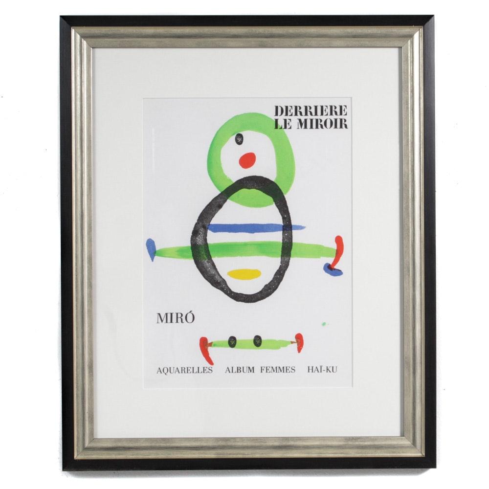 """Joan Miró Color Lithograph for """"Derriere le Miroir"""""""